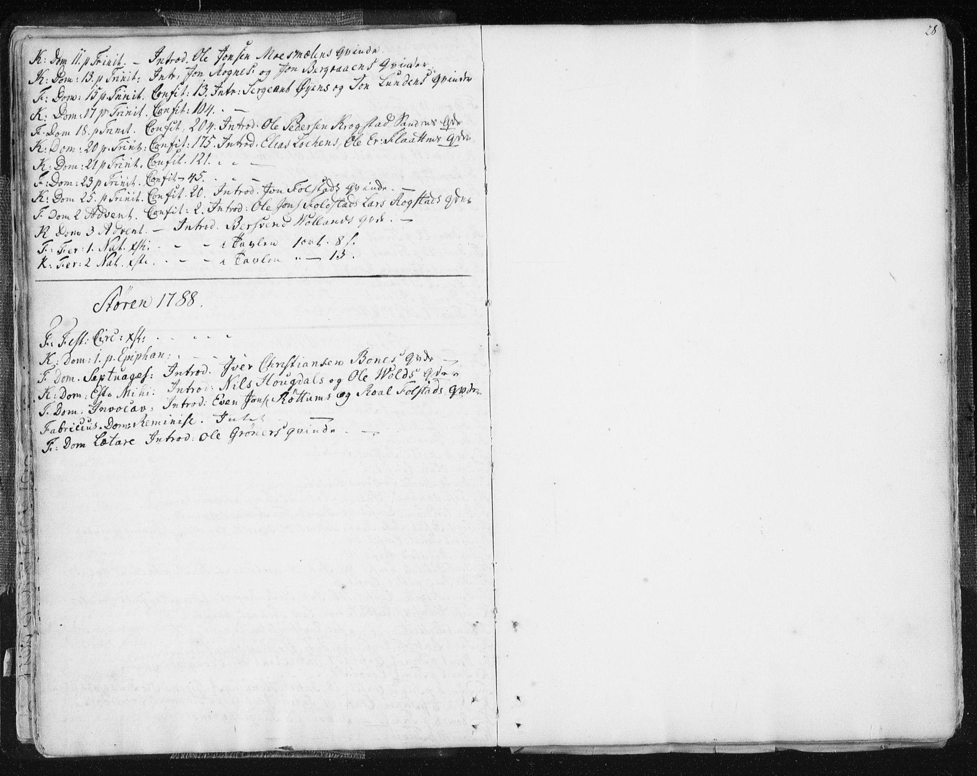 SAT, Ministerialprotokoller, klokkerbøker og fødselsregistre - Sør-Trøndelag, 687/L0991: Ministerialbok nr. 687A02, 1747-1790, s. 28