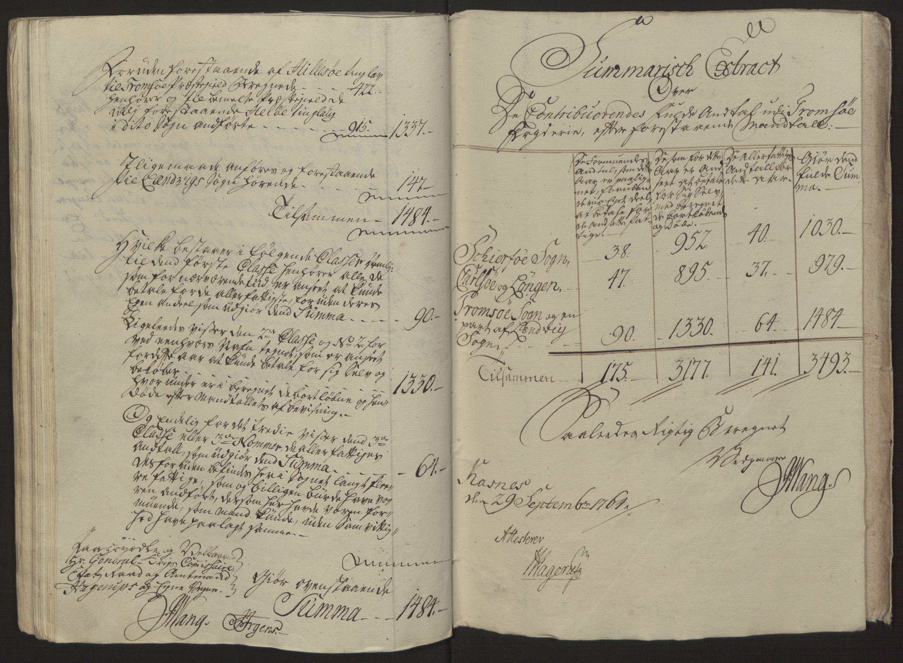 RA, Rentekammeret inntil 1814, Reviderte regnskaper, Fogderegnskap, R68/L4845: Ekstraskatten Senja og Troms, 1762-1765, s. 431