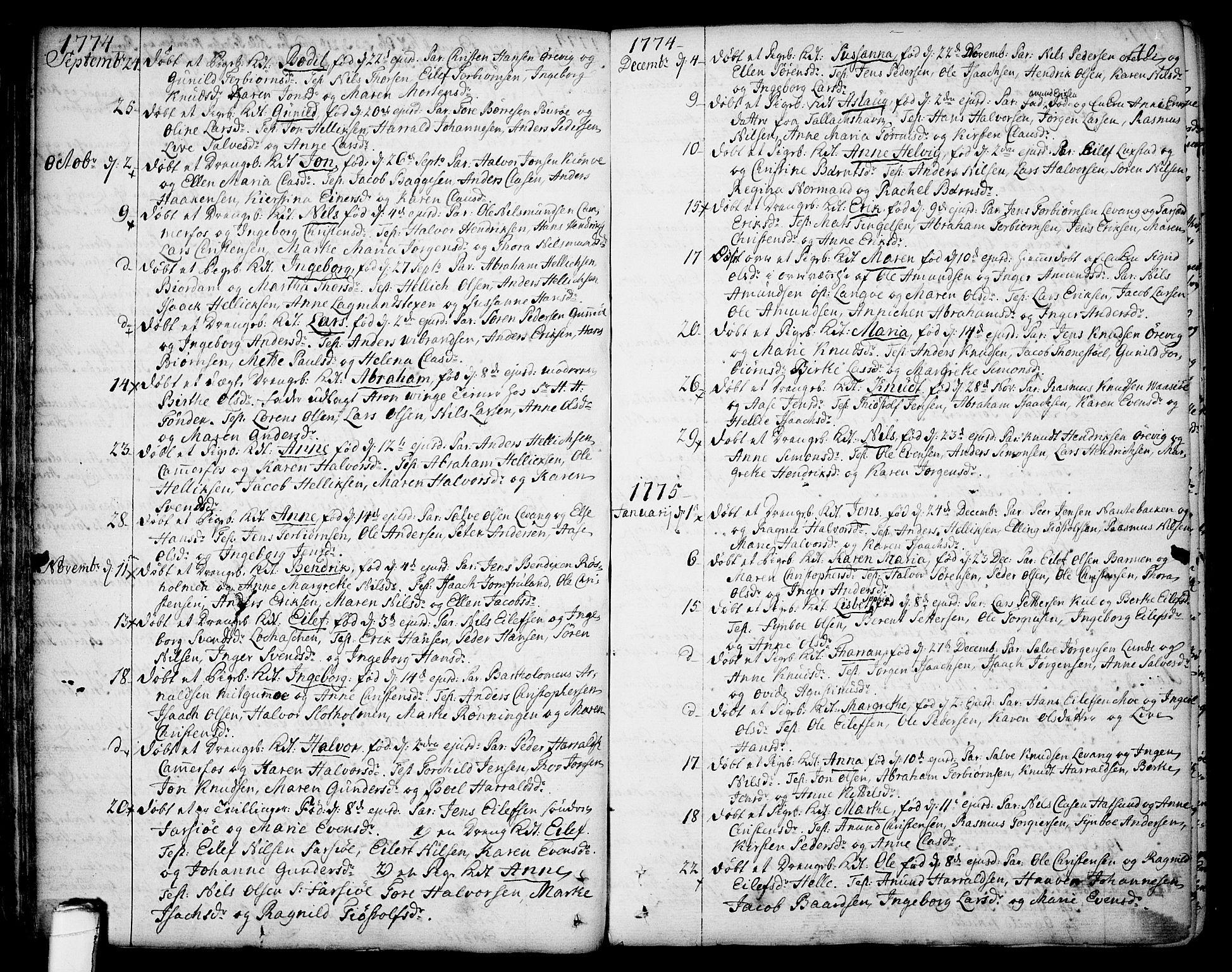SAKO, Sannidal kirkebøker, F/Fa/L0002: Ministerialbok nr. 2, 1767-1802, s. 40