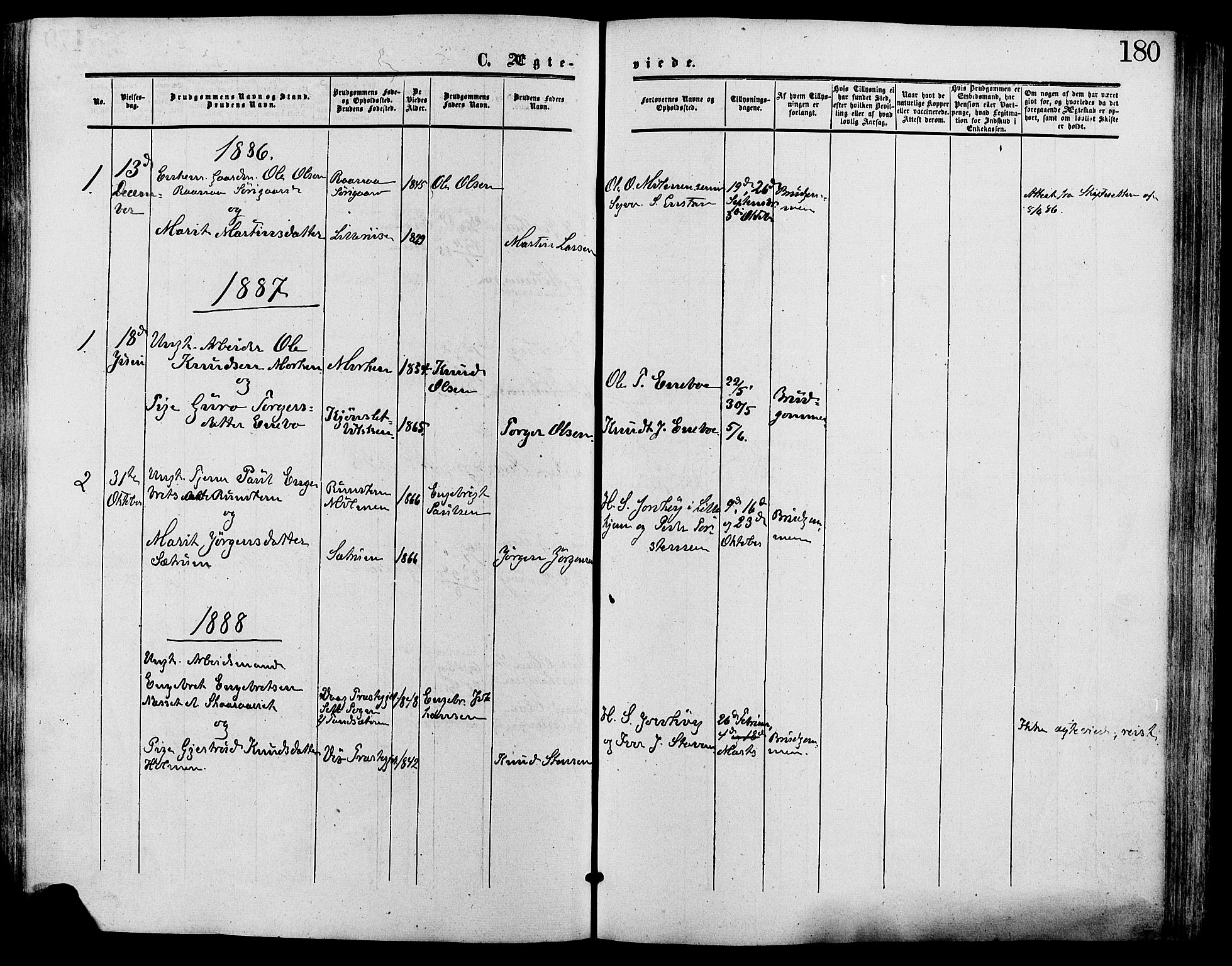 SAH, Lesja prestekontor, Ministerialbok nr. 9, 1854-1889, s. 180