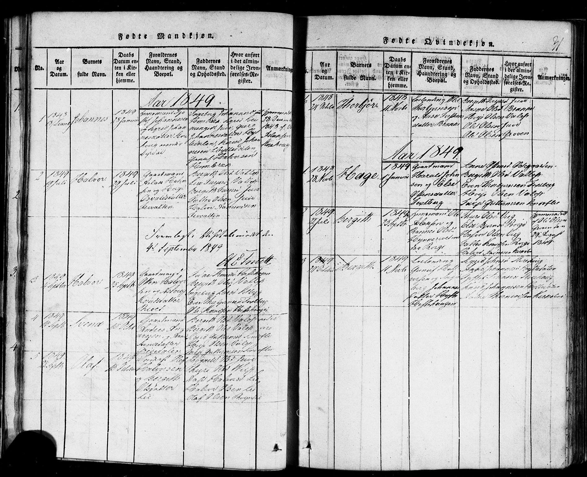 SAKO, Rauland kirkebøker, F/Fa/L0002: Ministerialbok nr. 2, 1815-1860, s. 31