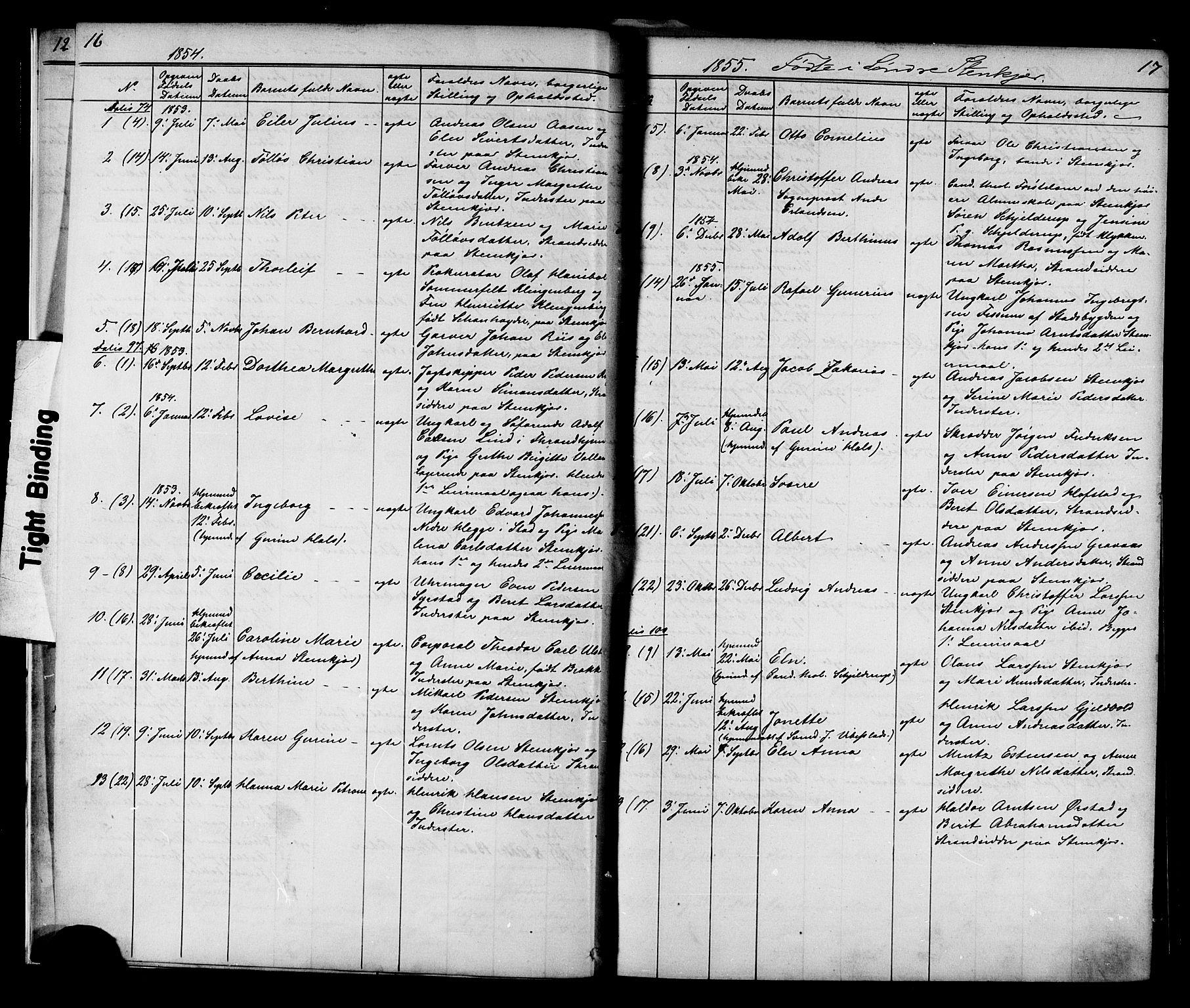 SAT, Ministerialprotokoller, klokkerbøker og fødselsregistre - Nord-Trøndelag, 739/L0367: Ministerialbok nr. 739A01 /1, 1838-1868, s. 16-17