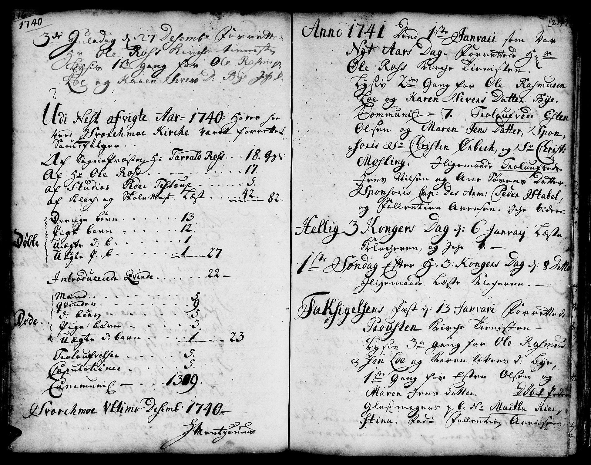 SAT, Ministerialprotokoller, klokkerbøker og fødselsregistre - Sør-Trøndelag, 671/L0839: Ministerialbok nr. 671A01, 1730-1755, s. 216-217