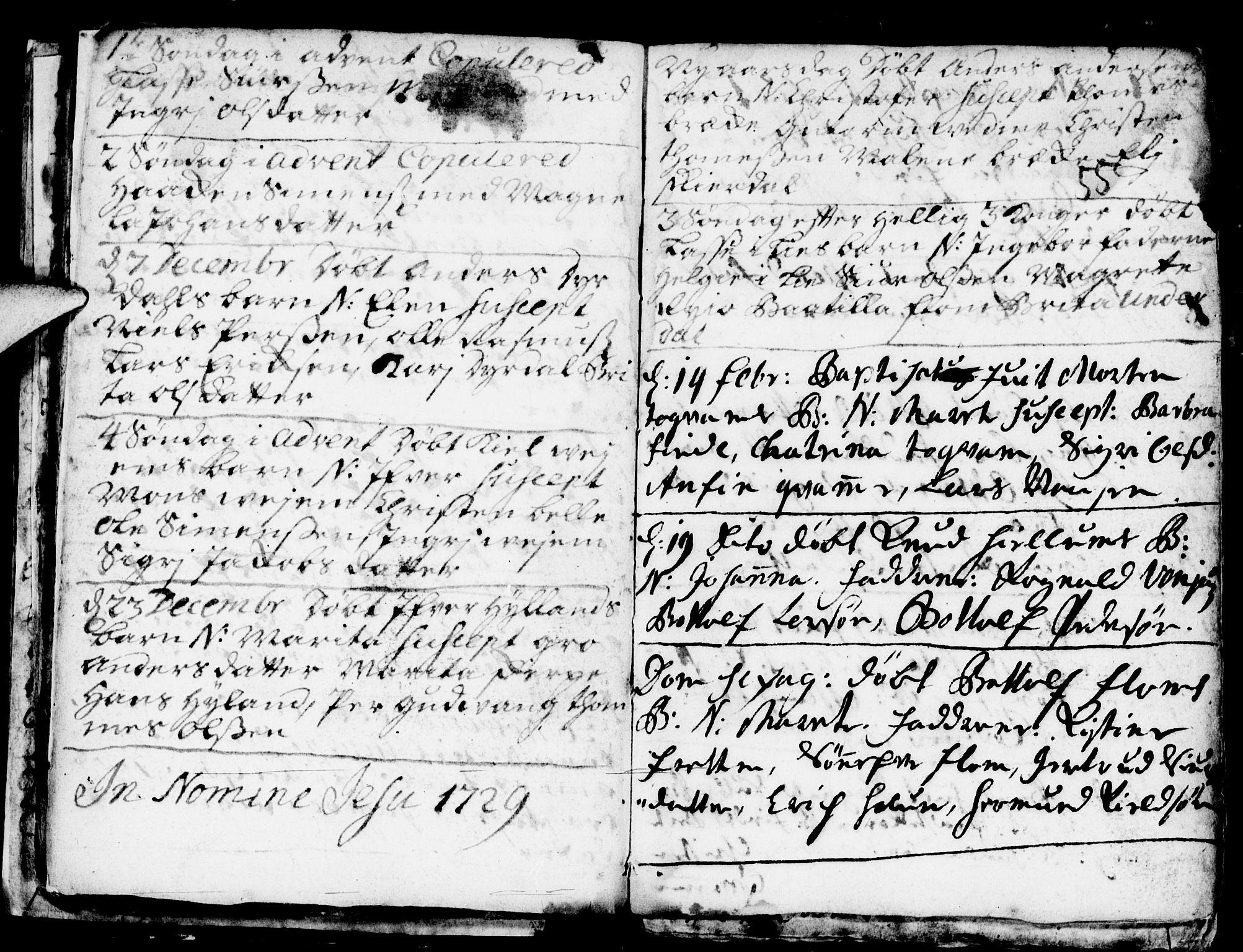 SAB, Aurland Sokneprestembete*, Ministerialbok nr. A 1, 1716-1734, s. 55