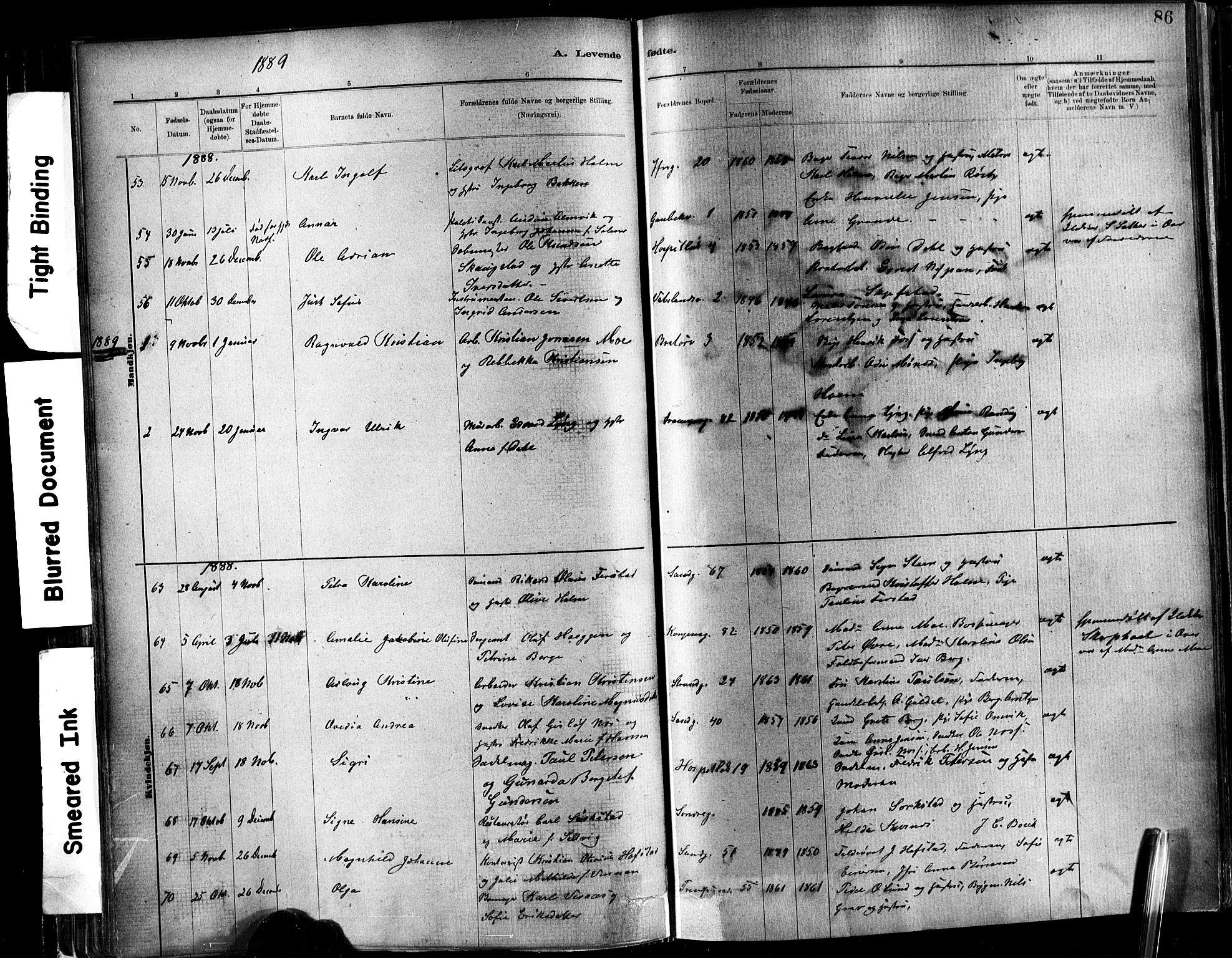 SAT, Ministerialprotokoller, klokkerbøker og fødselsregistre - Sør-Trøndelag, 602/L0119: Ministerialbok nr. 602A17, 1880-1901, s. 86