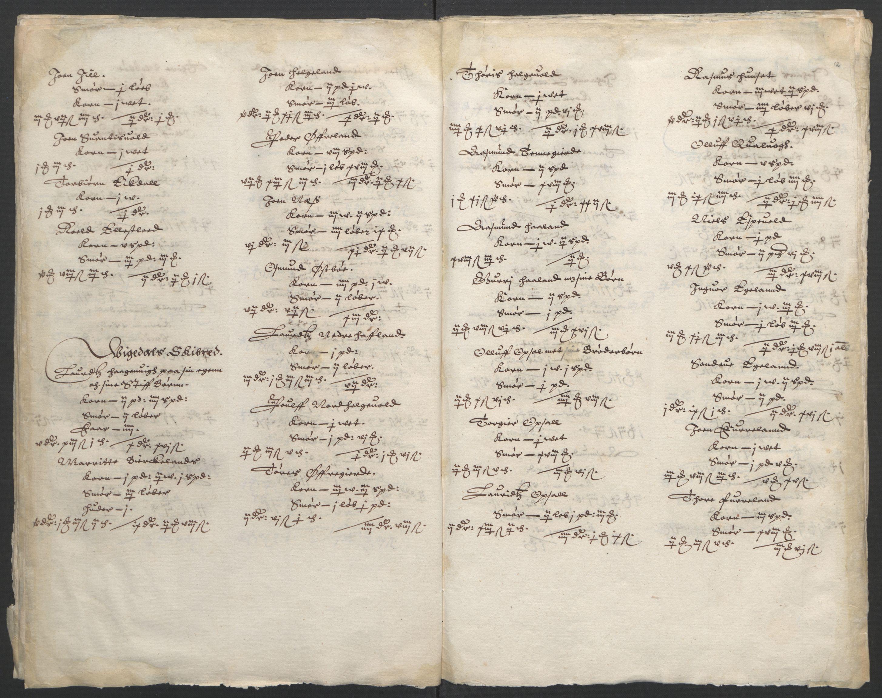 RA, Stattholderembetet 1572-1771, Ek/L0010: Jordebøker til utlikning av rosstjeneste 1624-1626:, 1624-1626, s. 77