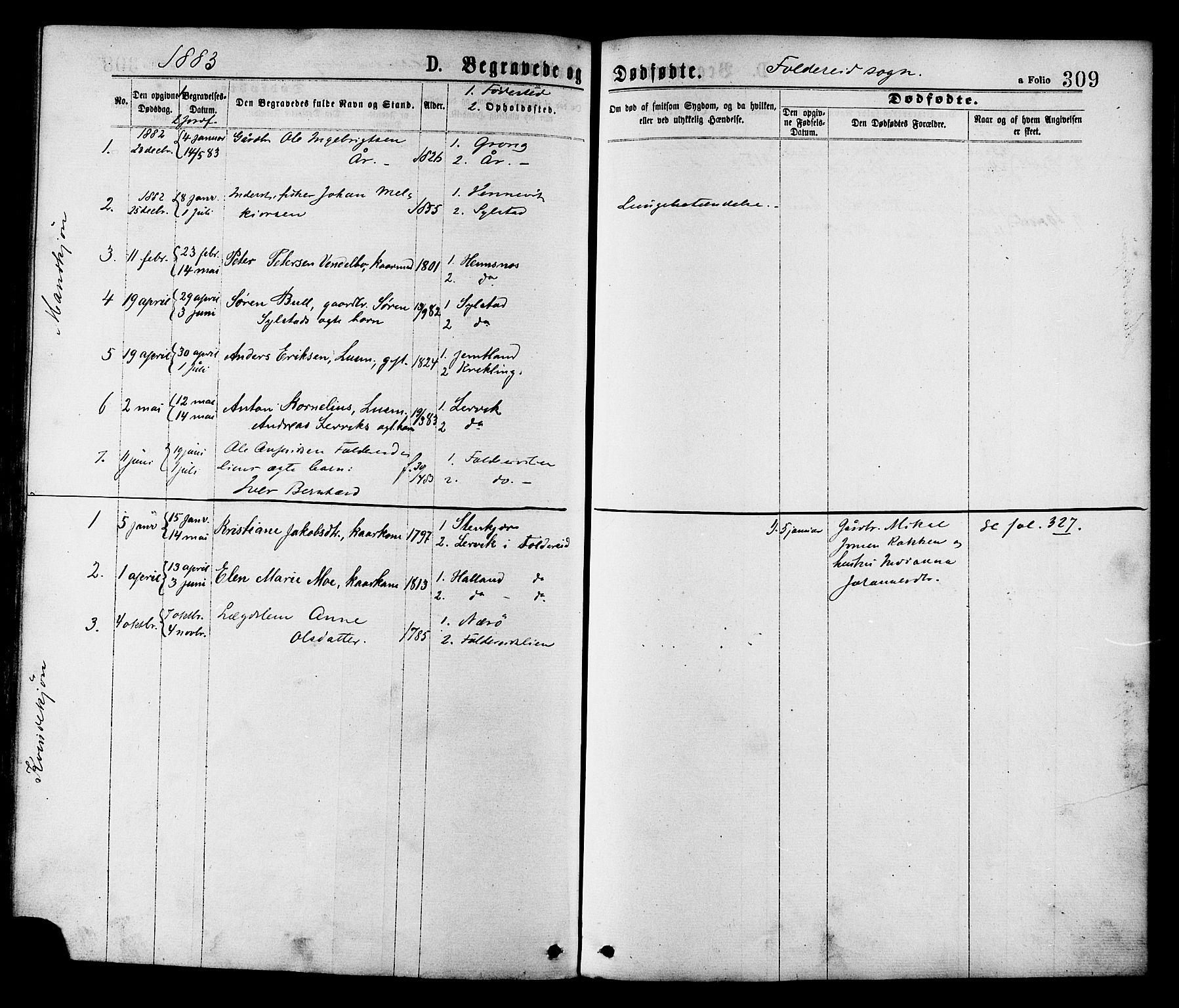 SAT, Ministerialprotokoller, klokkerbøker og fødselsregistre - Nord-Trøndelag, 780/L0642: Ministerialbok nr. 780A07 /2, 1878-1885, s. 309