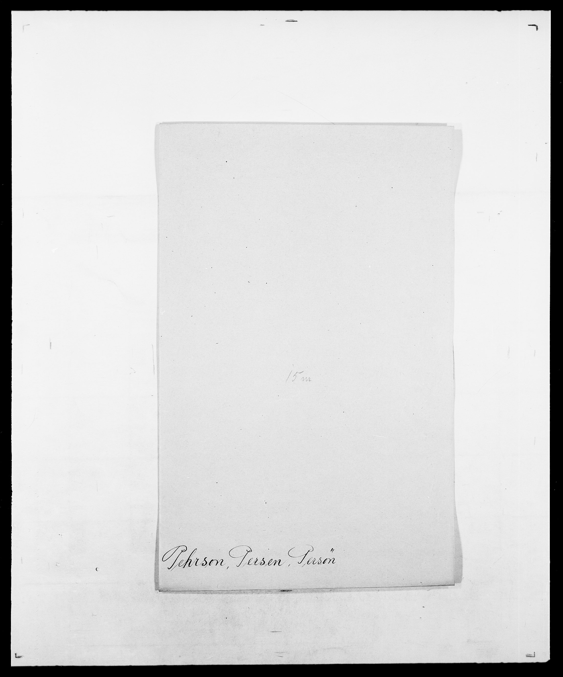SAO, Delgobe, Charles Antoine - samling, D/Da/L0030: Paars - Pittelkov, s. 315