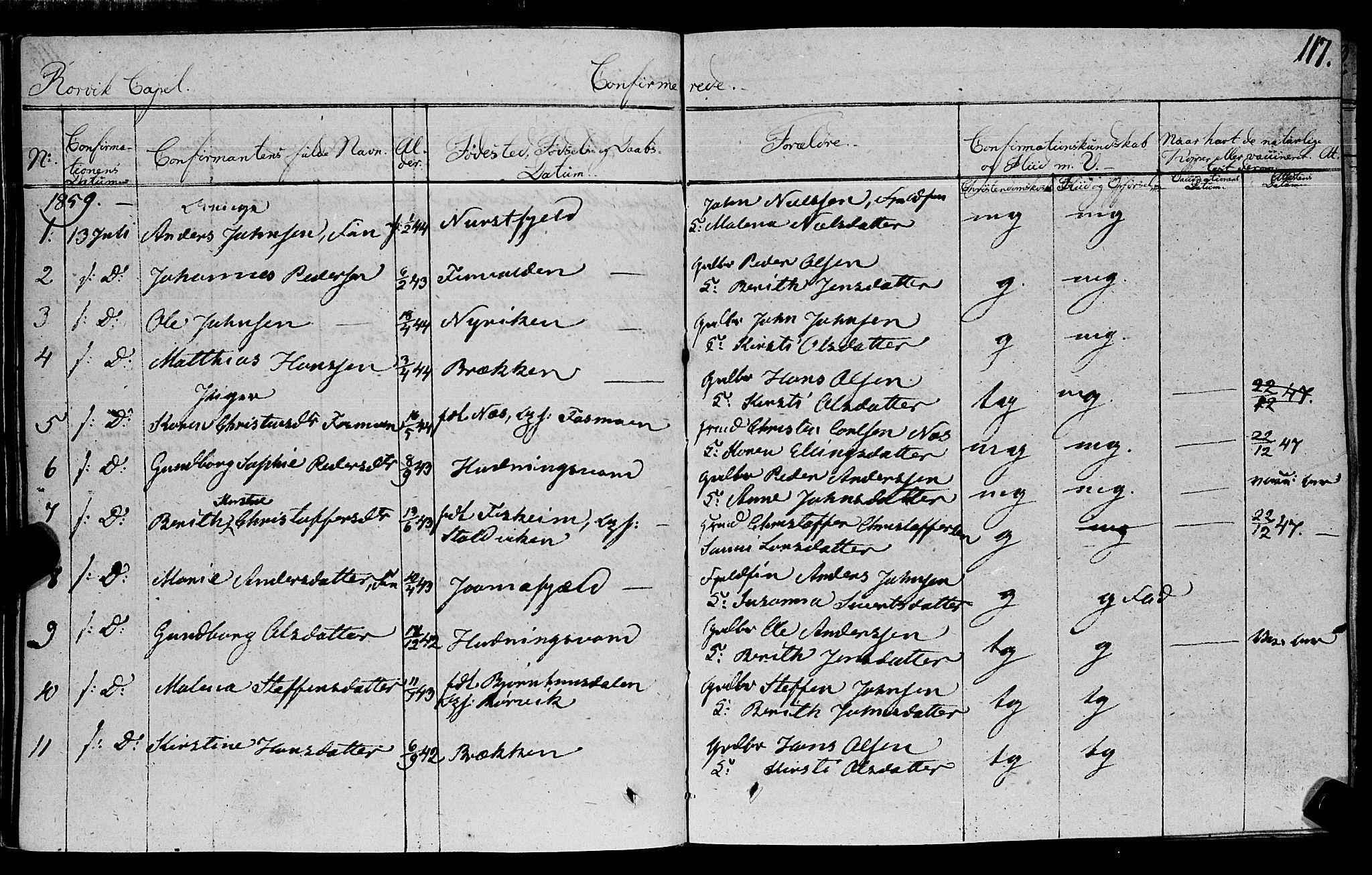 SAT, Ministerialprotokoller, klokkerbøker og fødselsregistre - Nord-Trøndelag, 762/L0538: Ministerialbok nr. 762A02 /1, 1833-1879, s. 117
