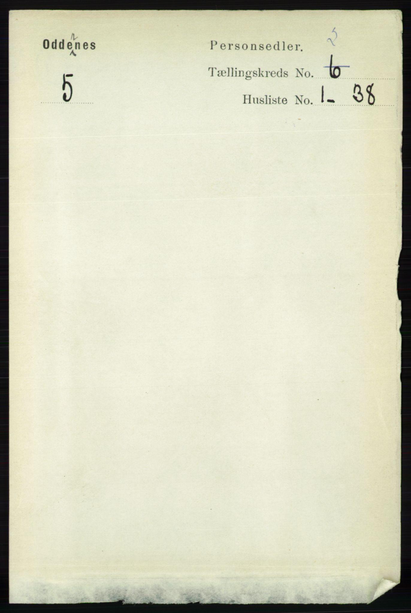 RA, Folketelling 1891 for 1012 Oddernes herred, 1891, s. 562