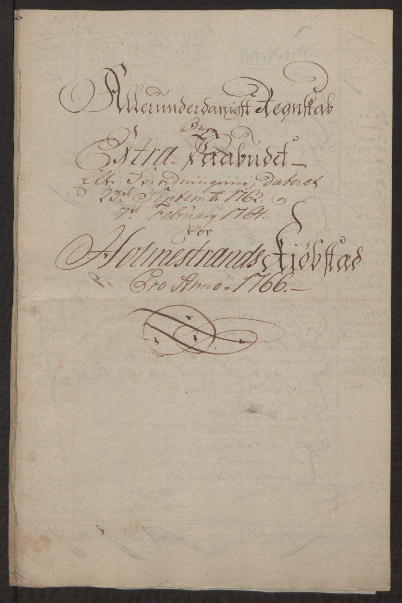 RA, Rentekammeret inntil 1814, Reviderte regnskaper, Byregnskaper, R/Rh/L0163: [H4] Kontribusjonsregnskap, 1762-1772, s. 248