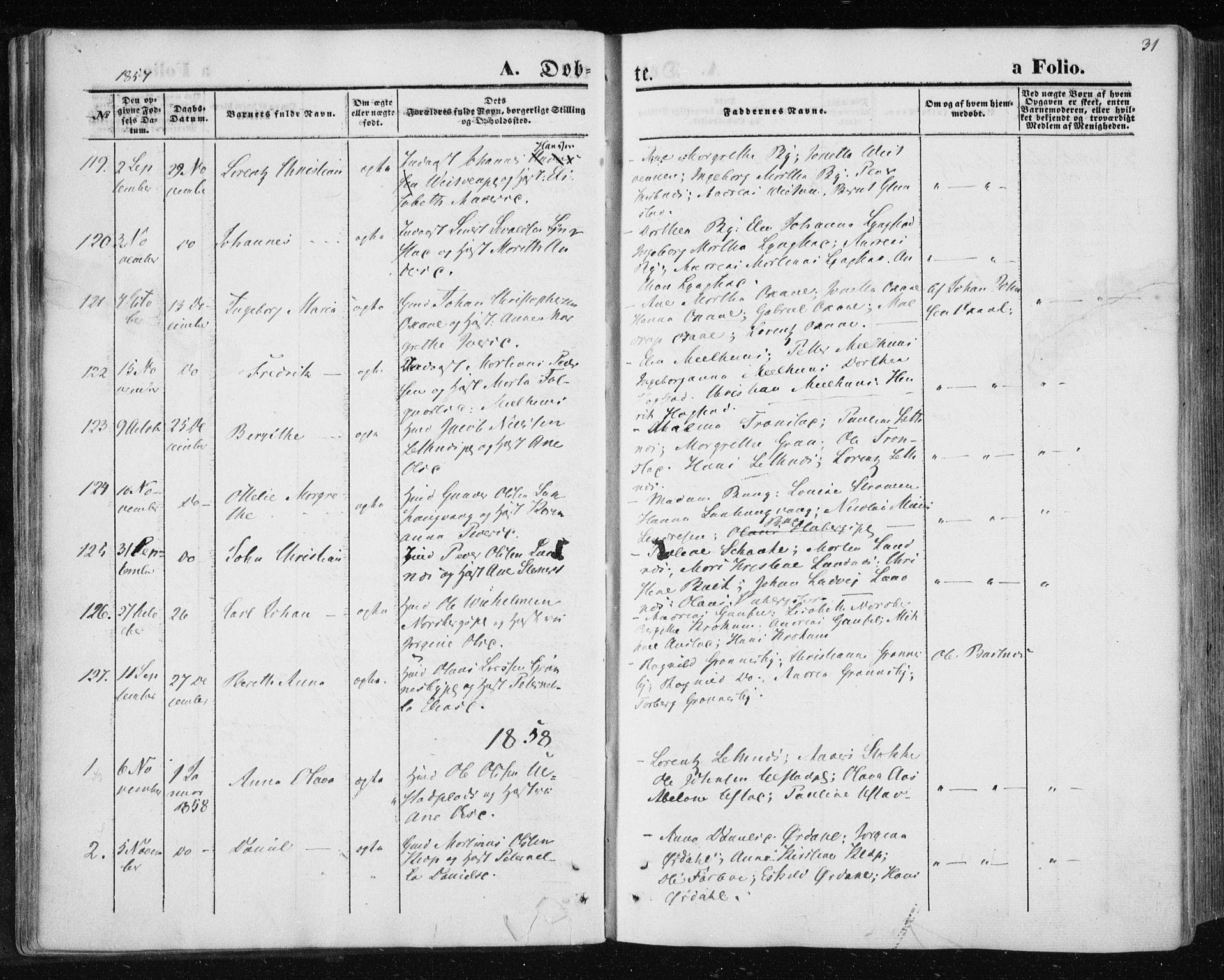 SAT, Ministerialprotokoller, klokkerbøker og fødselsregistre - Nord-Trøndelag, 730/L0283: Ministerialbok nr. 730A08, 1855-1865, s. 31