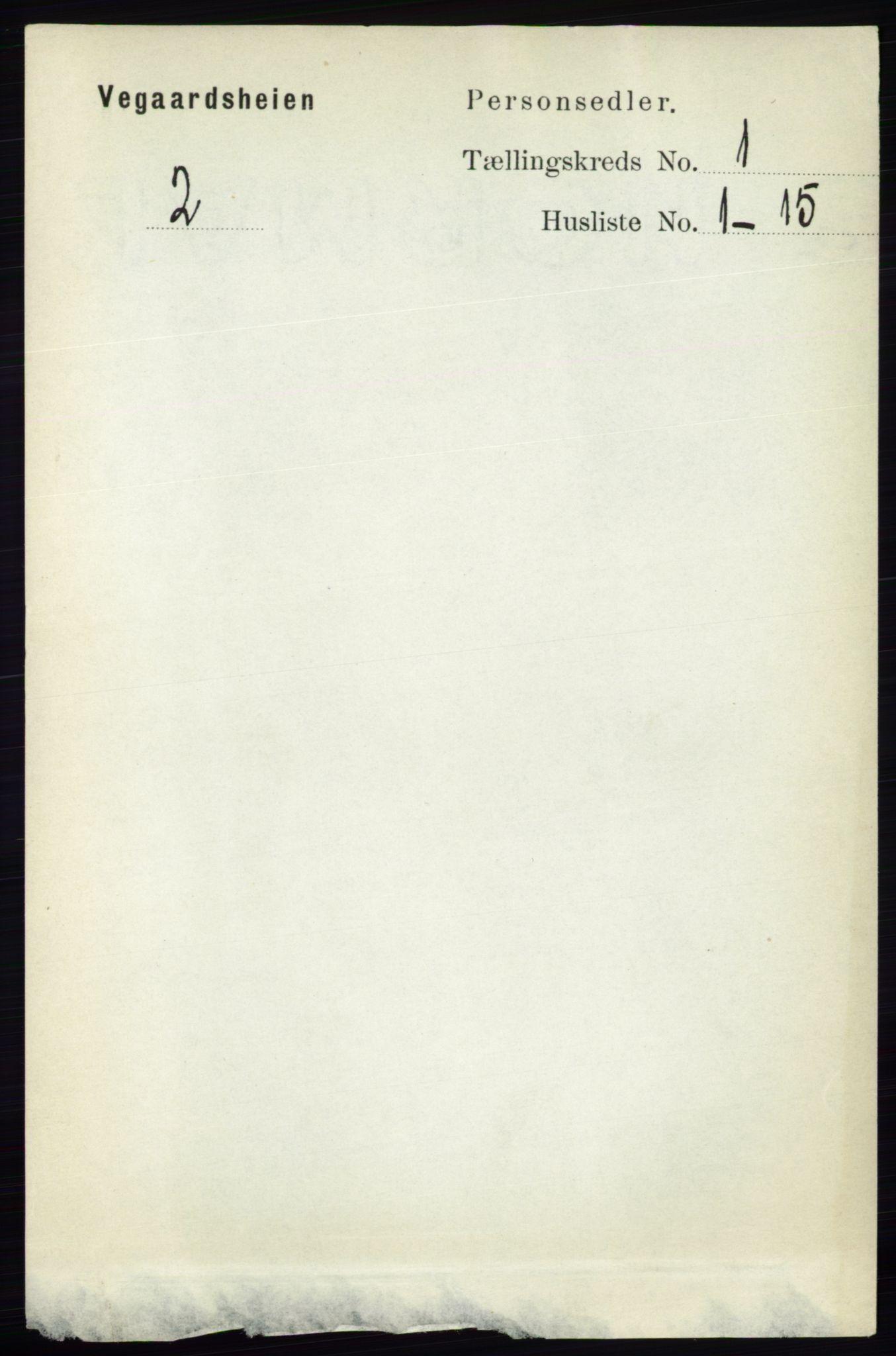 RA, Folketelling 1891 for 0912 Vegårshei herred, 1891, s. 65