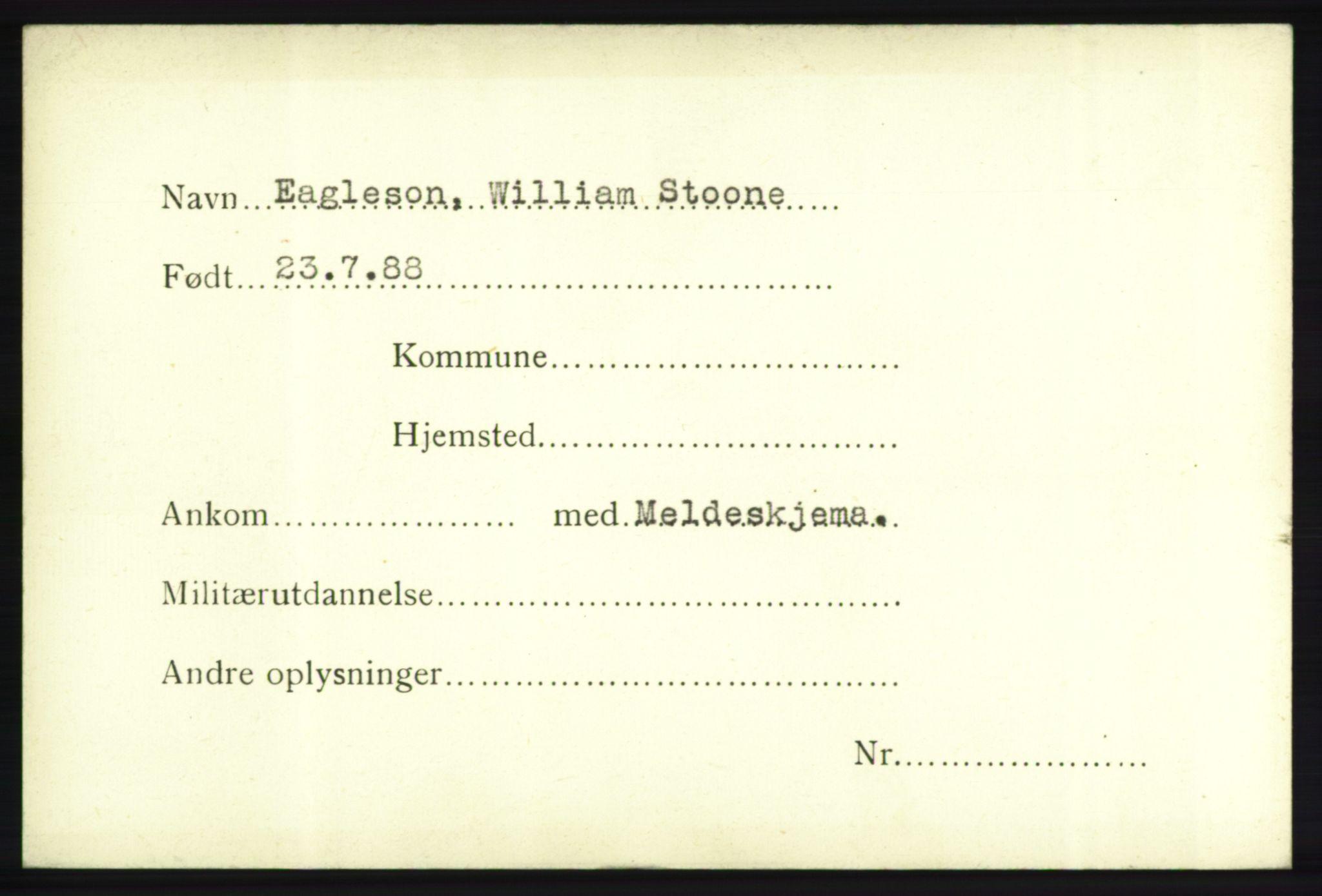 NHM, Forsvarets Overkommando. 2. kontor. Arkiv 8.1. Mottakersentralen FDE og FO.II, P/Pa/L0005: Kortsamling, 1940-1945, s. 1