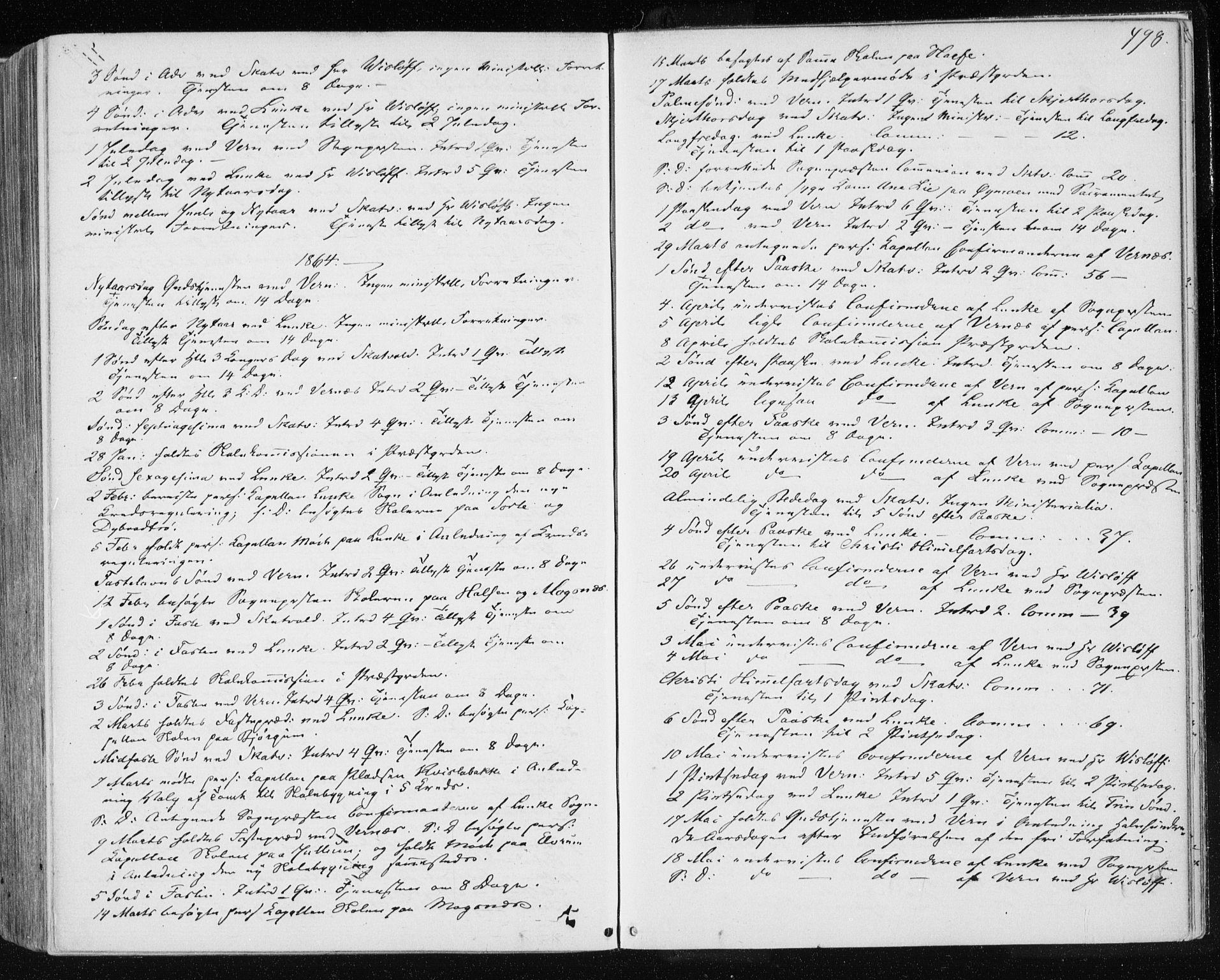 SAT, Ministerialprotokoller, klokkerbøker og fødselsregistre - Nord-Trøndelag, 709/L0075: Ministerialbok nr. 709A15, 1859-1870, s. 498