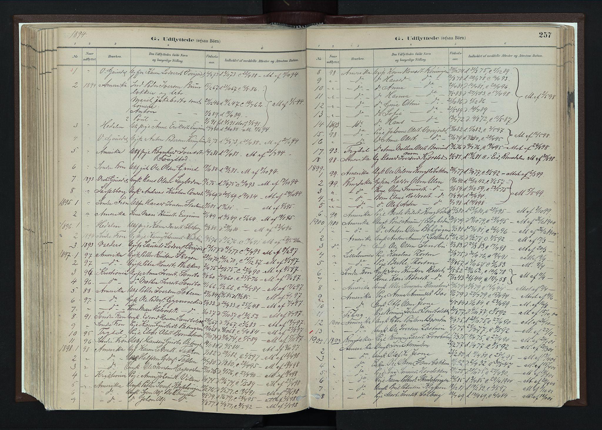 SAH, Nord-Fron prestekontor, Ministerialbok nr. 4, 1884-1914, s. 257