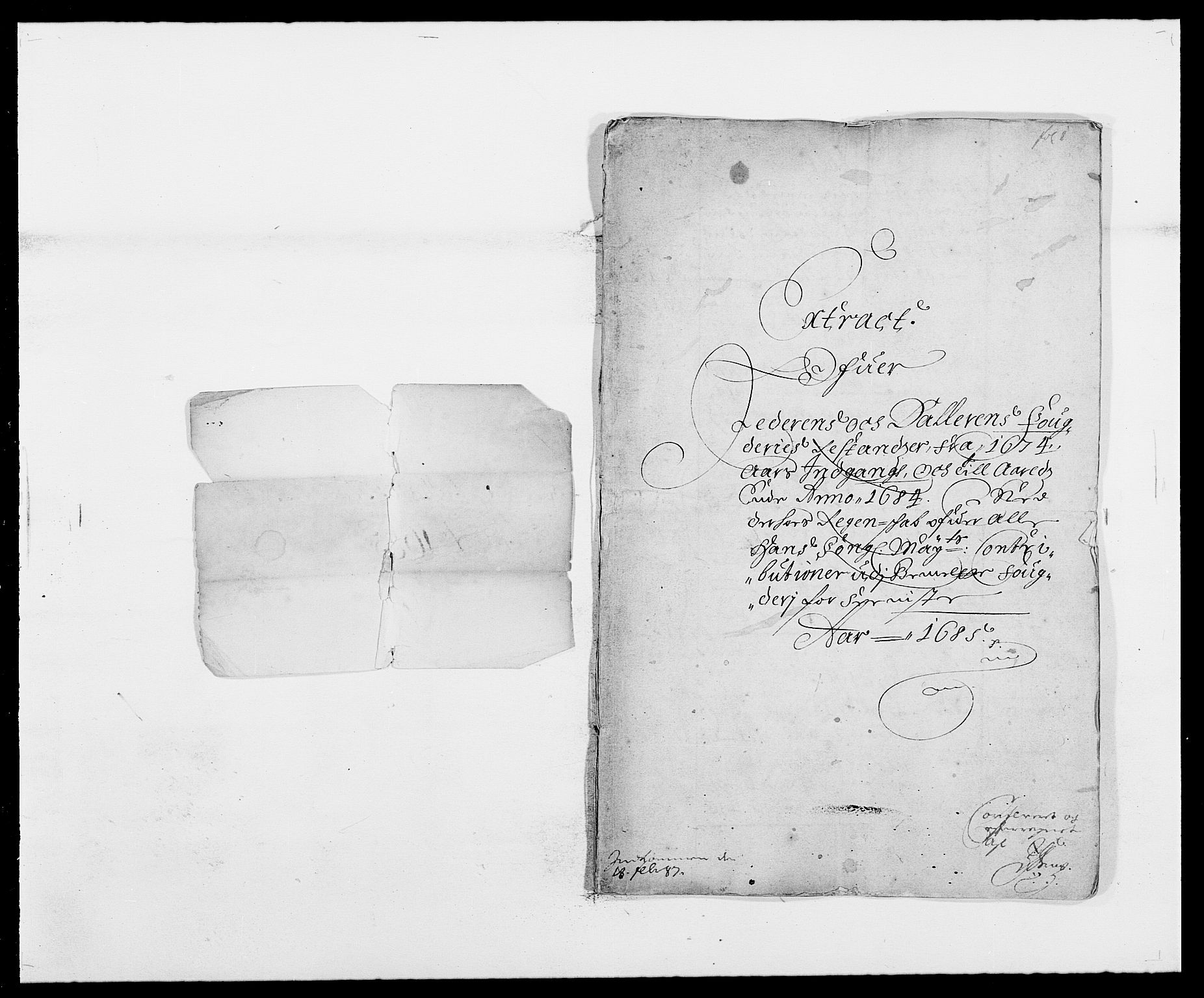 RA, Rentekammeret inntil 1814, Reviderte regnskaper, Fogderegnskap, R46/L2725: Fogderegnskap Jæren og Dalane, 1685, s. 2