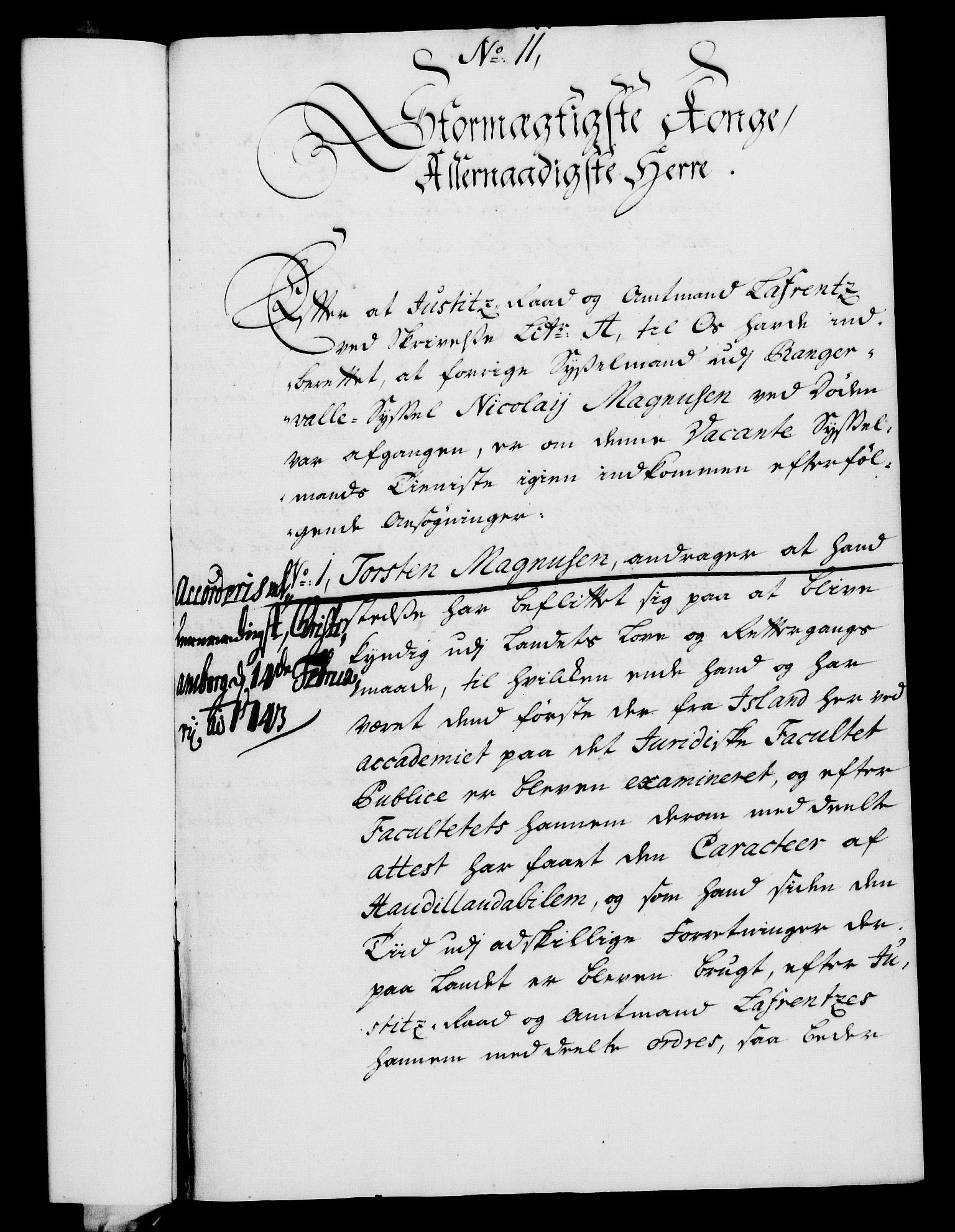 RA, Rentekammeret, Kammerkanselliet, G/Gf/Gfa/L0026: Norsk relasjons- og resolusjonsprotokoll (merket RK 52.26), 1743, s. 93