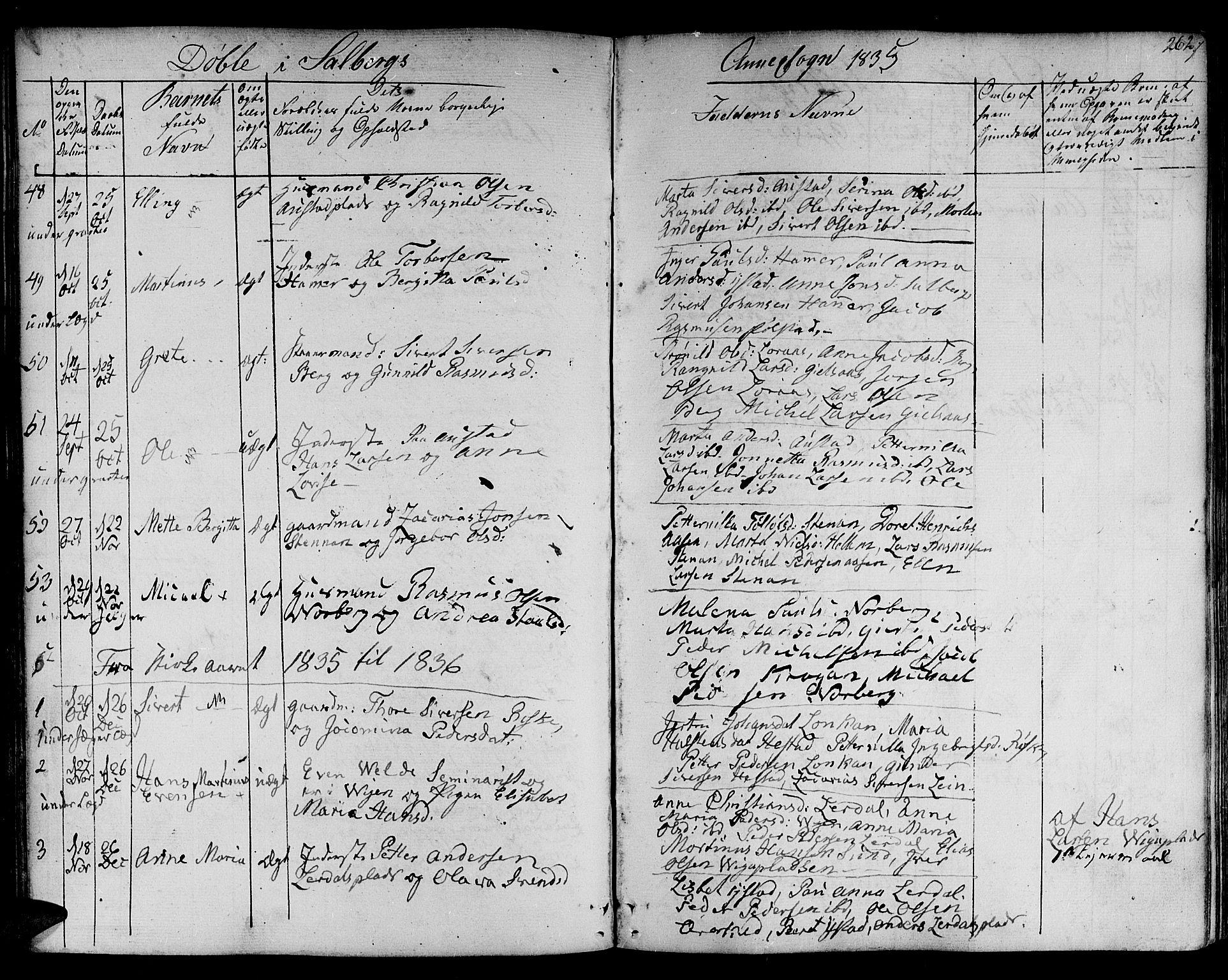SAT, Ministerialprotokoller, klokkerbøker og fødselsregistre - Nord-Trøndelag, 730/L0277: Ministerialbok nr. 730A06 /2, 1831-1839, s. 262