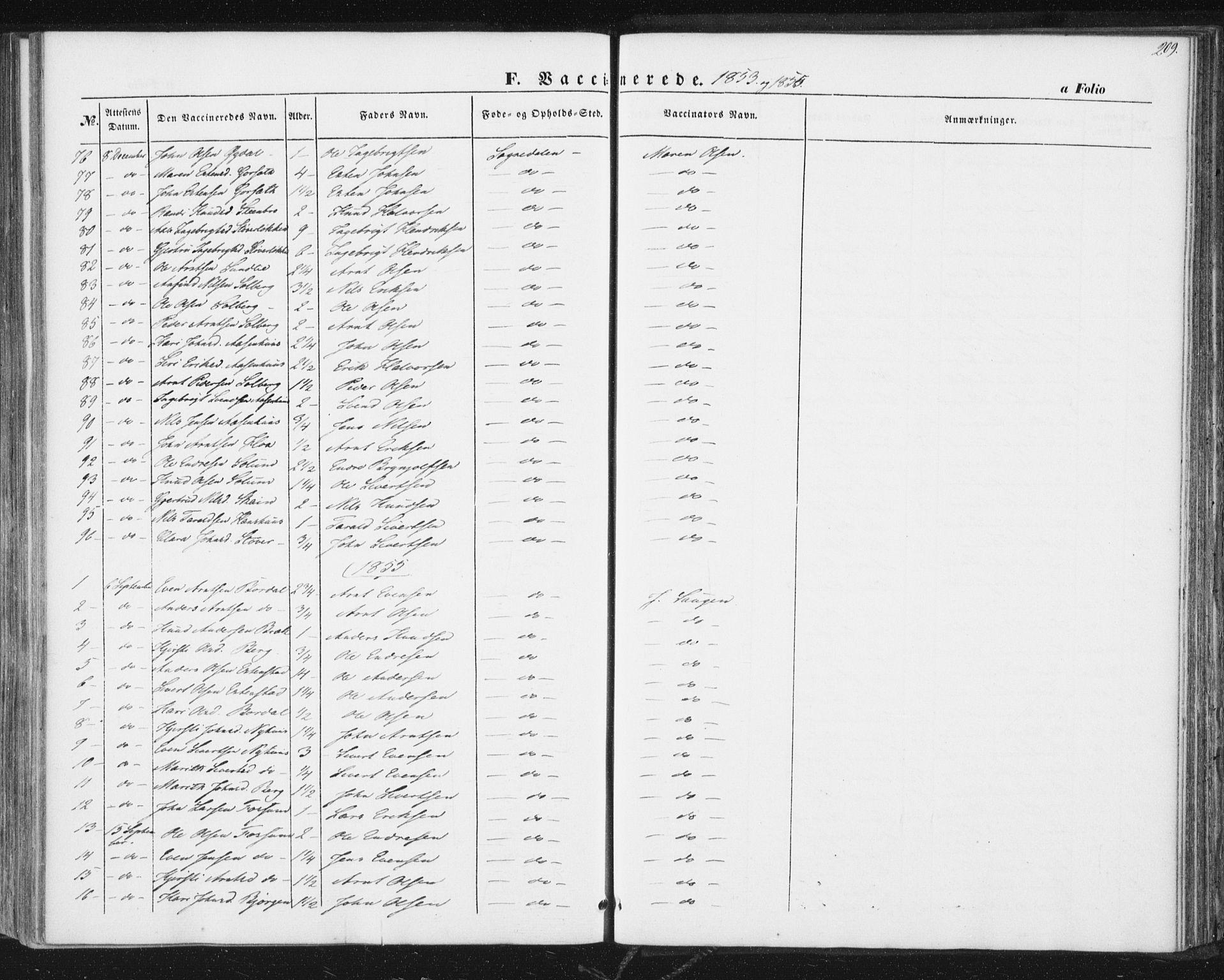 SAT, Ministerialprotokoller, klokkerbøker og fødselsregistre - Sør-Trøndelag, 689/L1038: Ministerialbok nr. 689A03, 1848-1872, s. 209