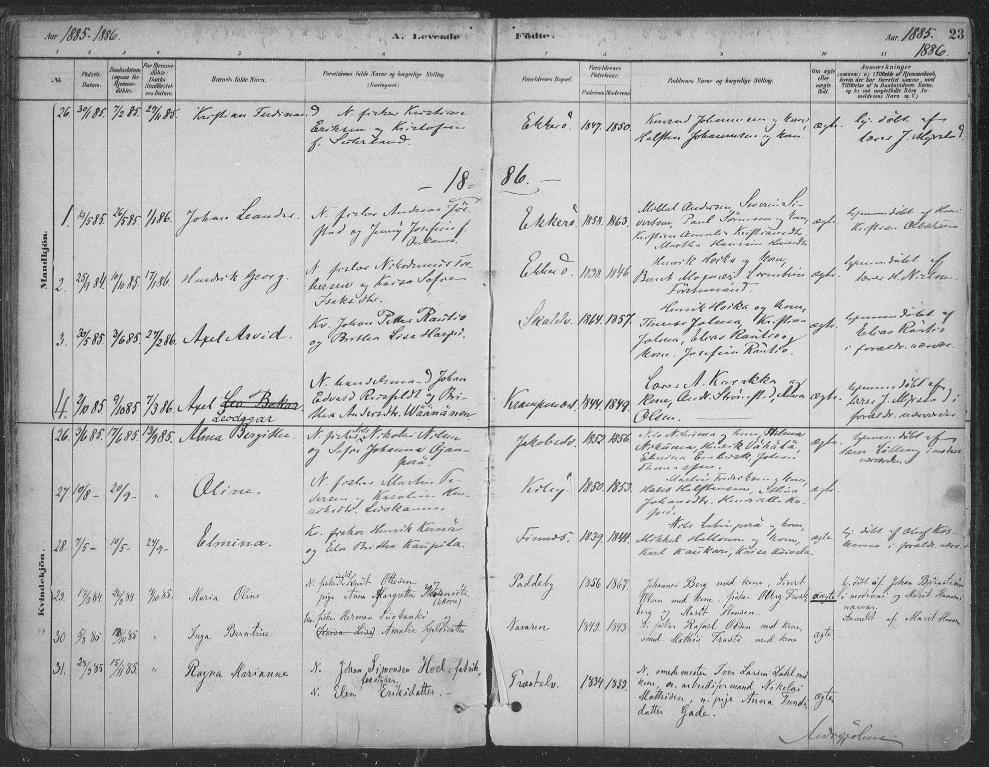 SATØ, Vadsø sokneprestkontor, H/Ha/L0009kirke: Ministerialbok nr. 9, 1881-1917, s. 23