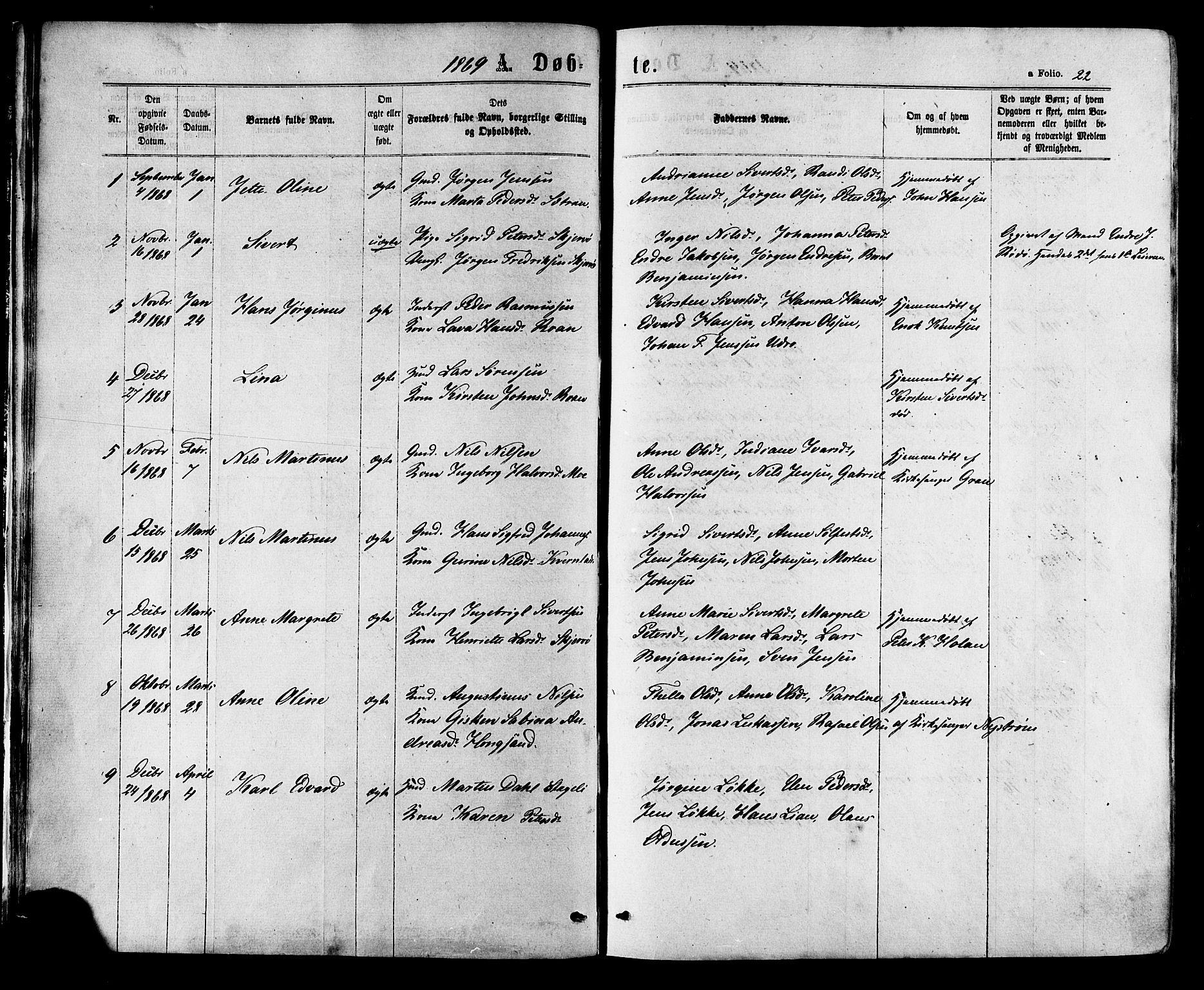SAT, Ministerialprotokoller, klokkerbøker og fødselsregistre - Sør-Trøndelag, 657/L0706: Ministerialbok nr. 657A07, 1867-1878, s. 22