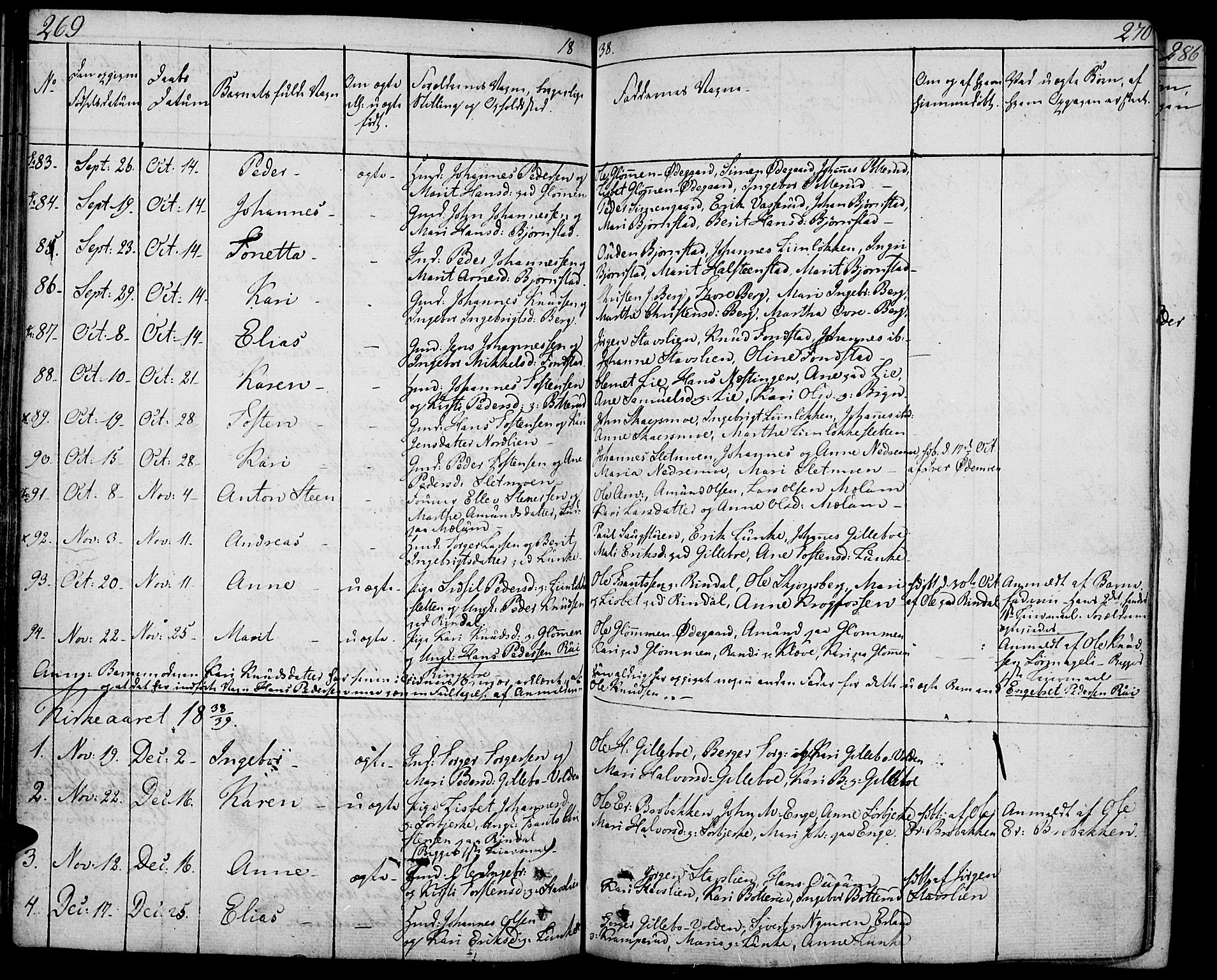 SAH, Øyer prestekontor, Ministerialbok nr. 4, 1824-1841, s. 269-270