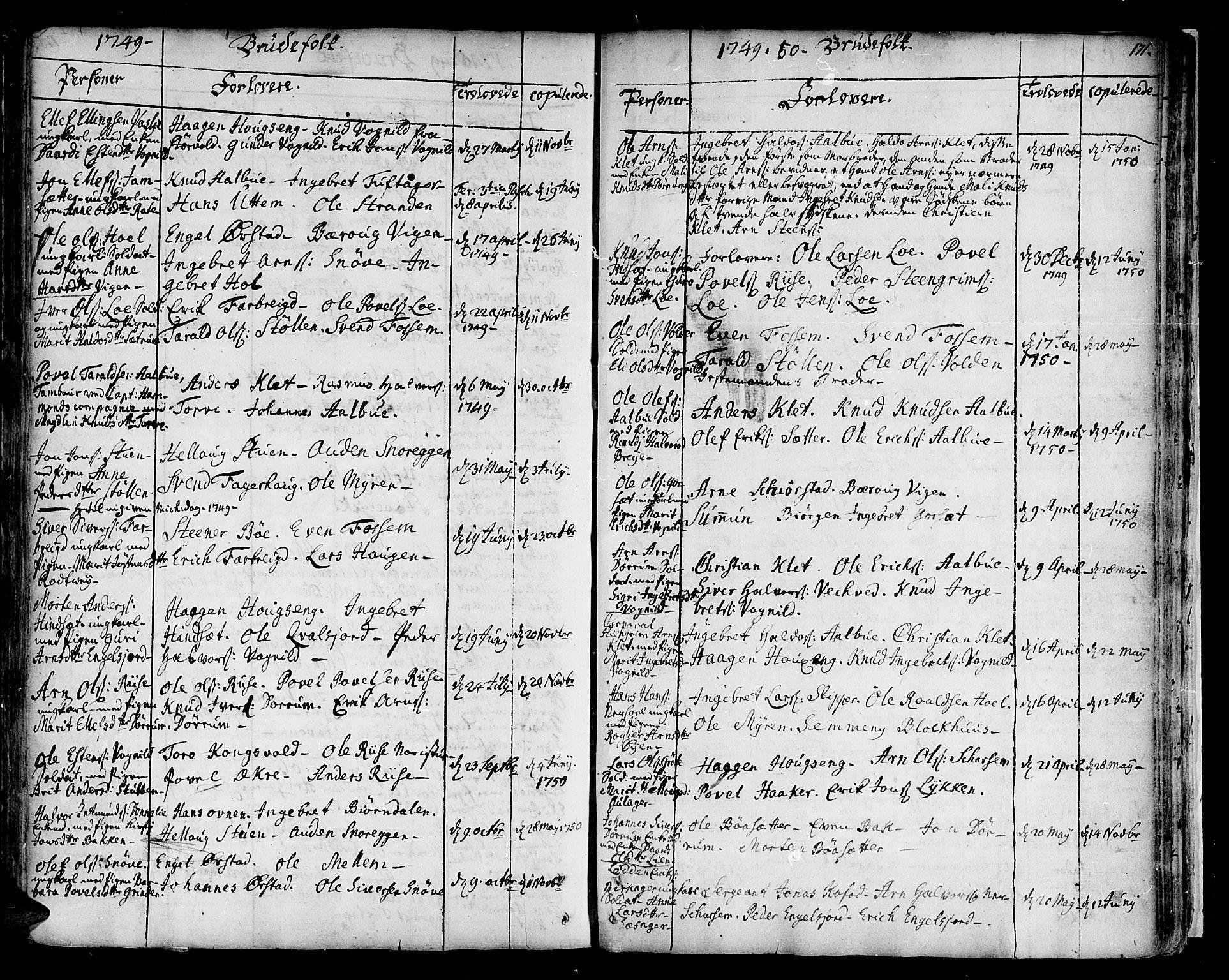 SAT, Ministerialprotokoller, klokkerbøker og fødselsregistre - Sør-Trøndelag, 678/L0891: Ministerialbok nr. 678A01, 1739-1780, s. 171