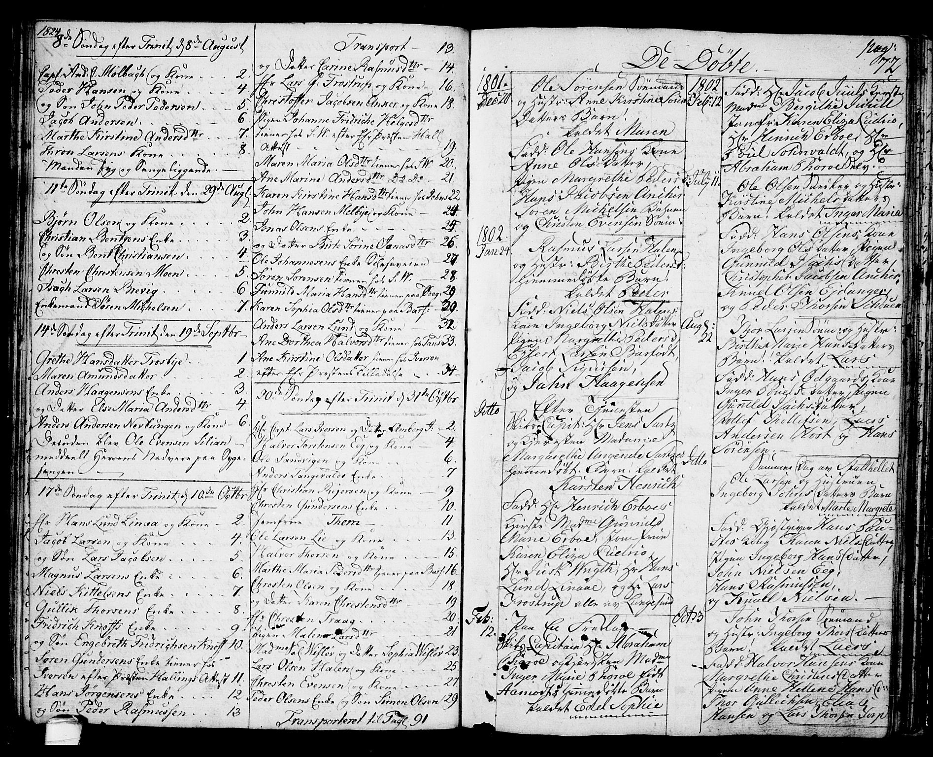 SAKO, Langesund kirkebøker, G/Ga/L0002: Klokkerbok nr. 2, 1801-1815, s. 72