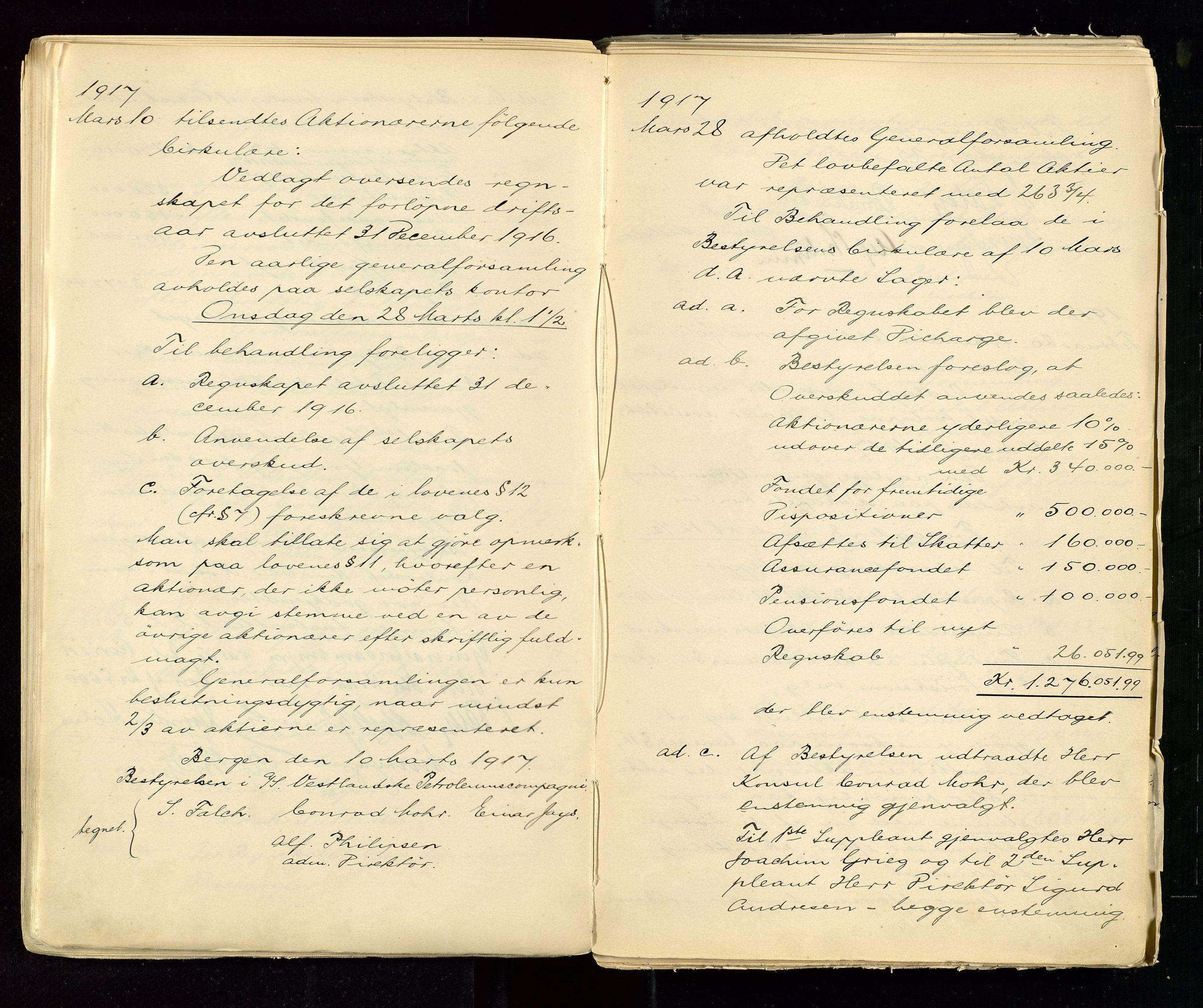 SAST, PA 1533 - A/S Vestlandske Petroleumscompani, A/Aa/L0001: Generalforsamlinger og styreprotokoller, 1890-1953, s. 57
