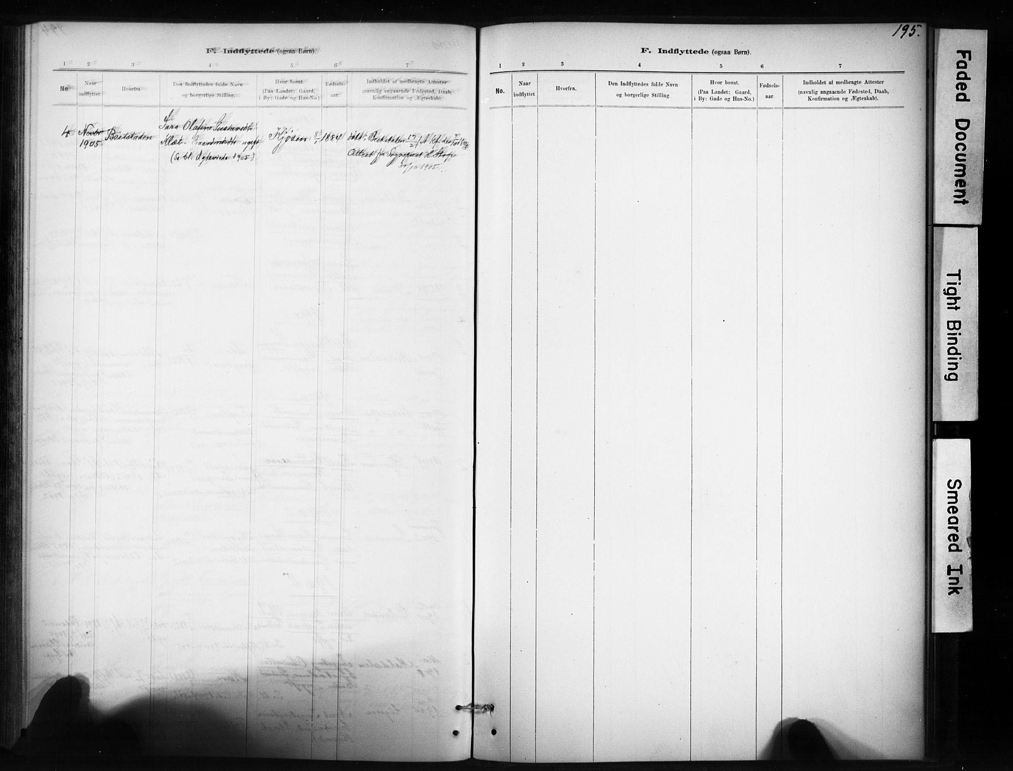 SAT, Ministerialprotokoller, klokkerbøker og fødselsregistre - Sør-Trøndelag, 694/L1127: Ministerialbok nr. 694A01, 1887-1905, s. 195