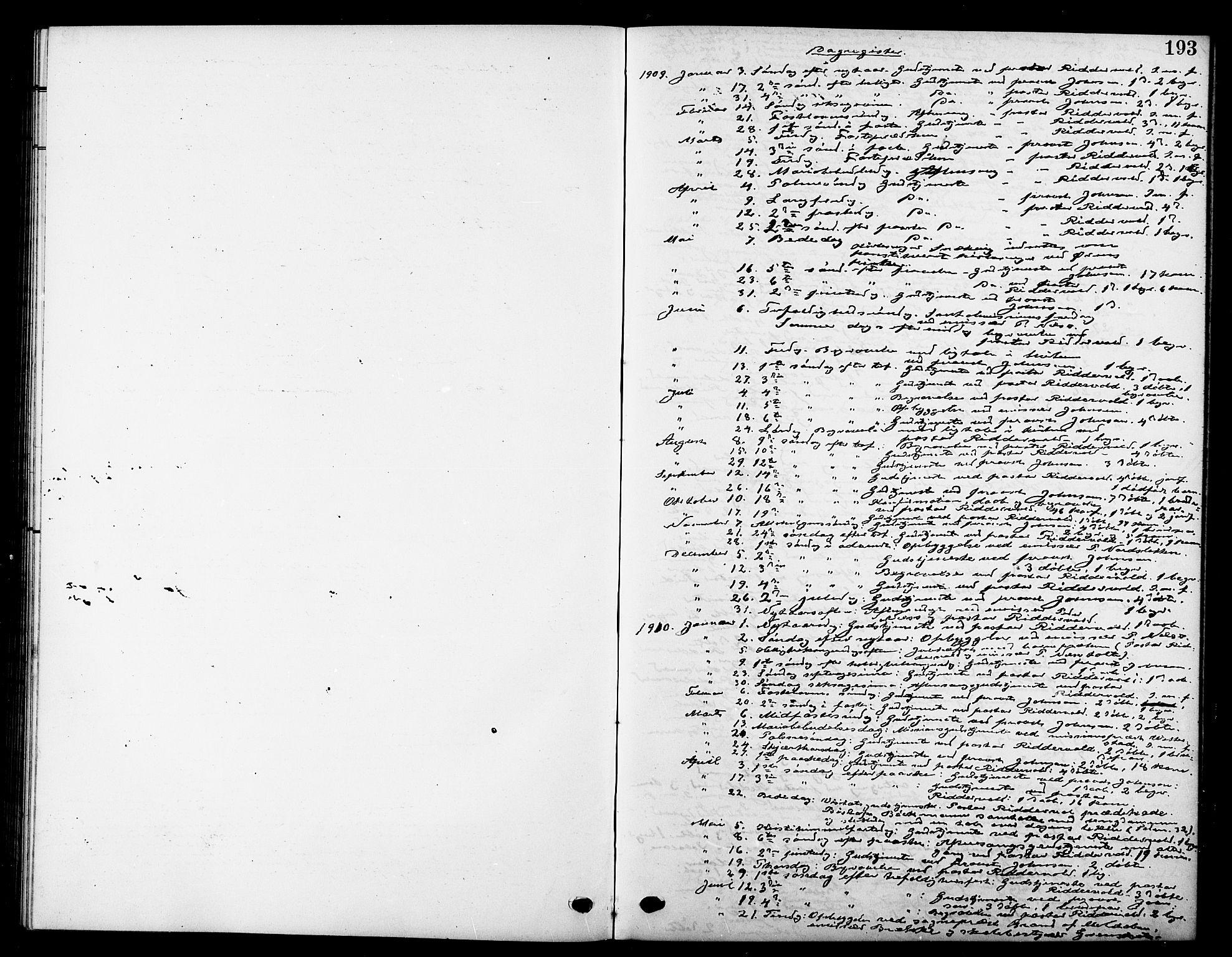 SAT, Ministerialprotokoller, klokkerbøker og fødselsregistre - Sør-Trøndelag, 669/L0831: Klokkerbok nr. 669C01, 1909-1924, s. 193