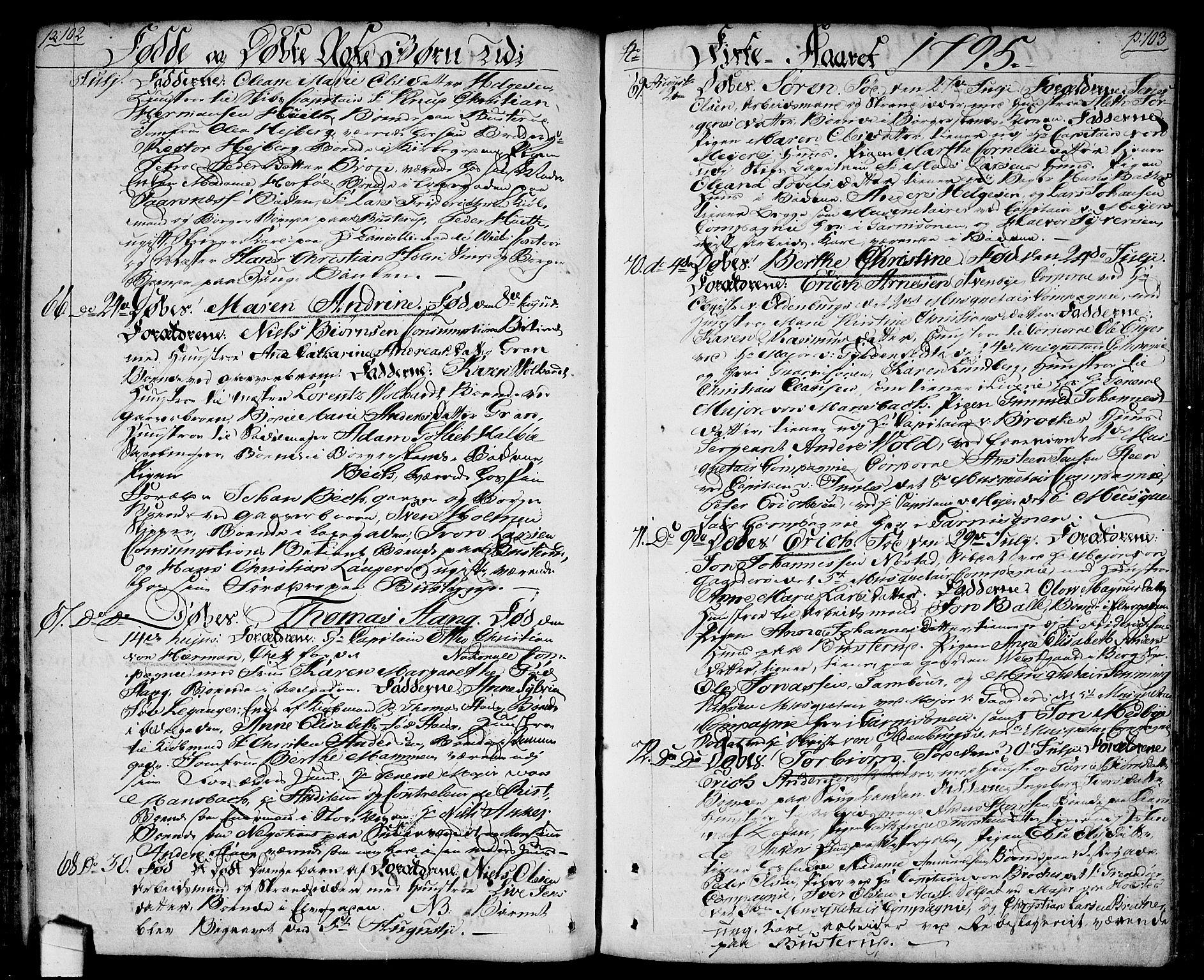 SAO, Halden prestekontor Kirkebøker, F/Fa/L0002: Ministerialbok nr. I 2, 1792-1812, s. 102-103