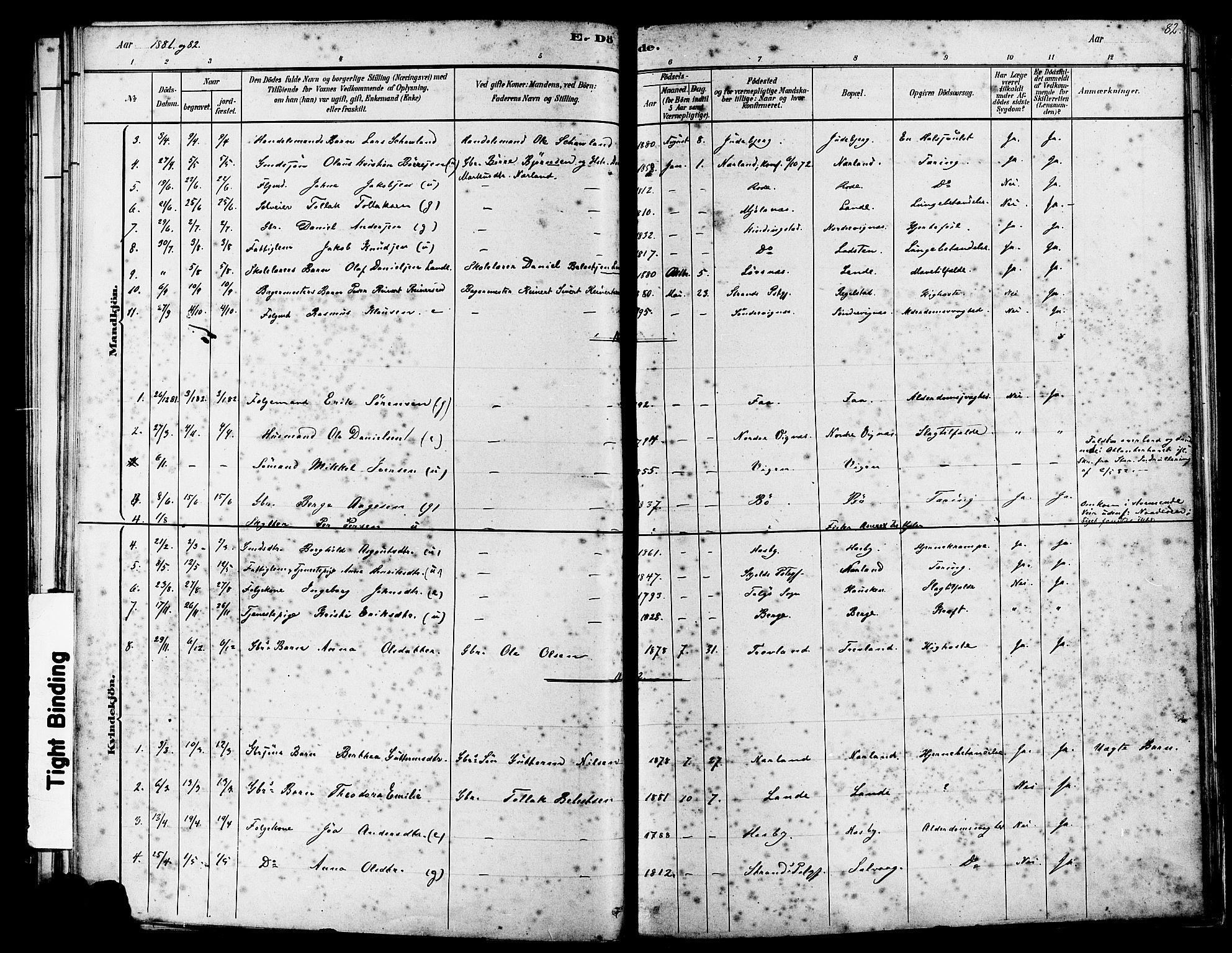 SAST, Finnøy sokneprestkontor, H/Ha/Haa/L0010: Ministerialbok nr. A 10, 1879-1890, s. 82