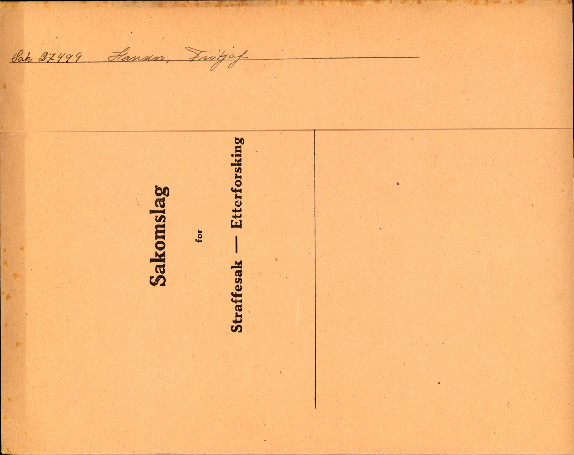 RA, Landssvikarkivet, Oslo politikammer, D/Dh/L0023: Henlagt døde, 1945-1947, s. 1