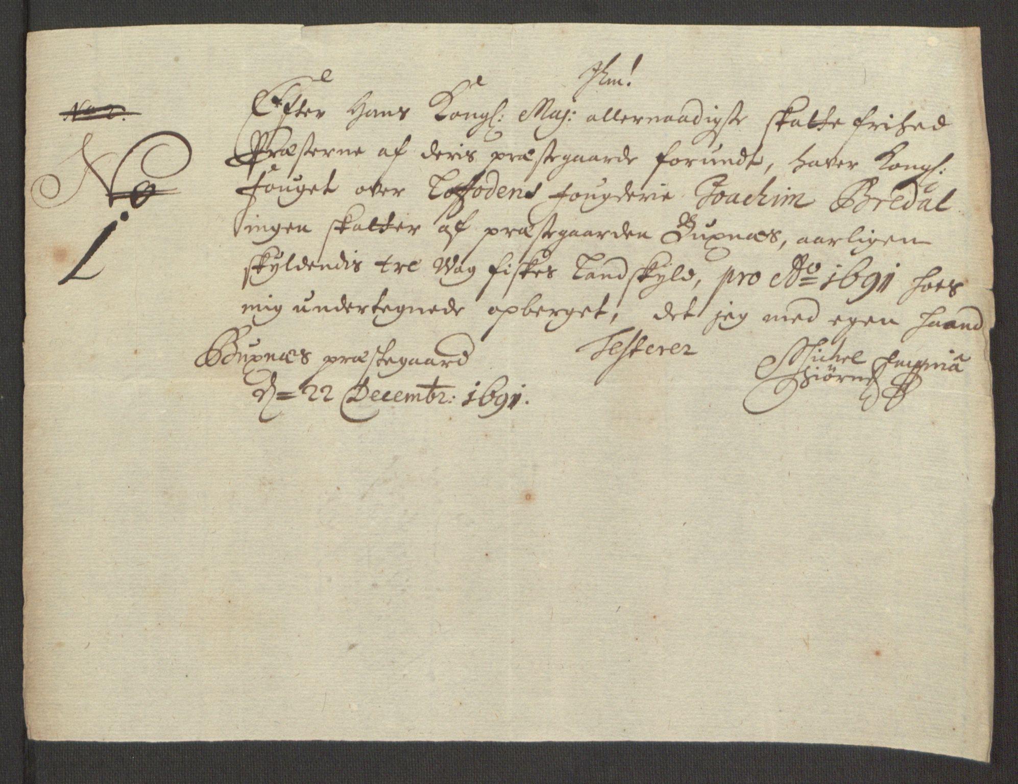 RA, Rentekammeret inntil 1814, Reviderte regnskaper, Fogderegnskap, R67/L4675: Fogderegnskap Vesterålen, Andenes og Lofoten, 1691-1693, s. 89
