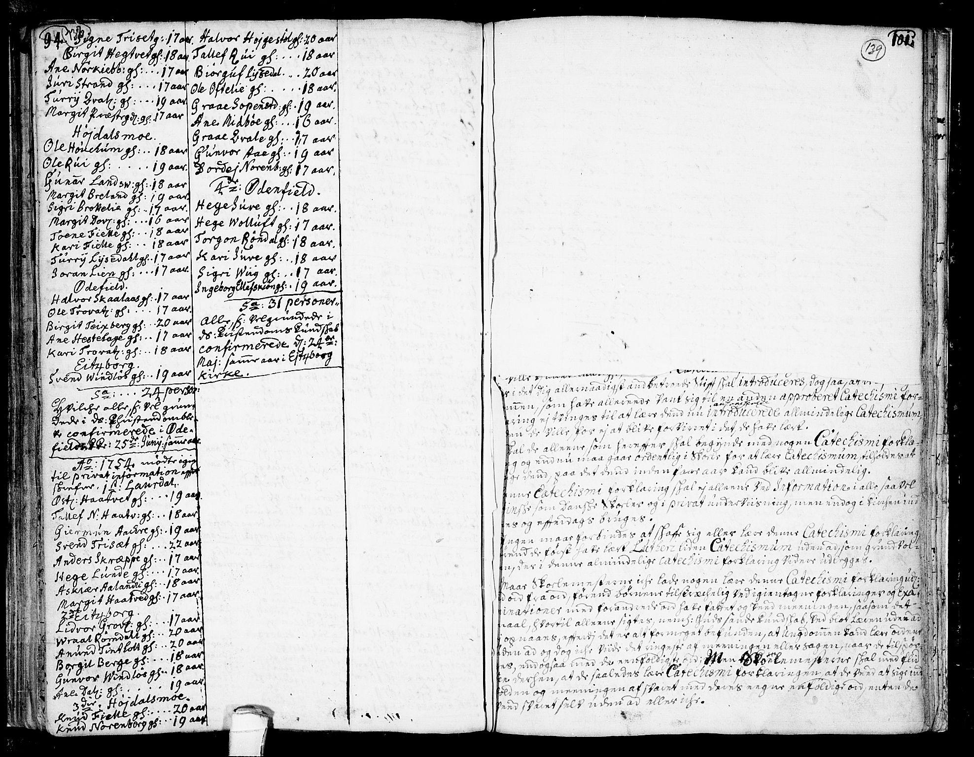 SAKO, Lårdal kirkebøker, F/Fa/L0002: Ministerialbok nr. I 2, 1734-1754, s. 138-139