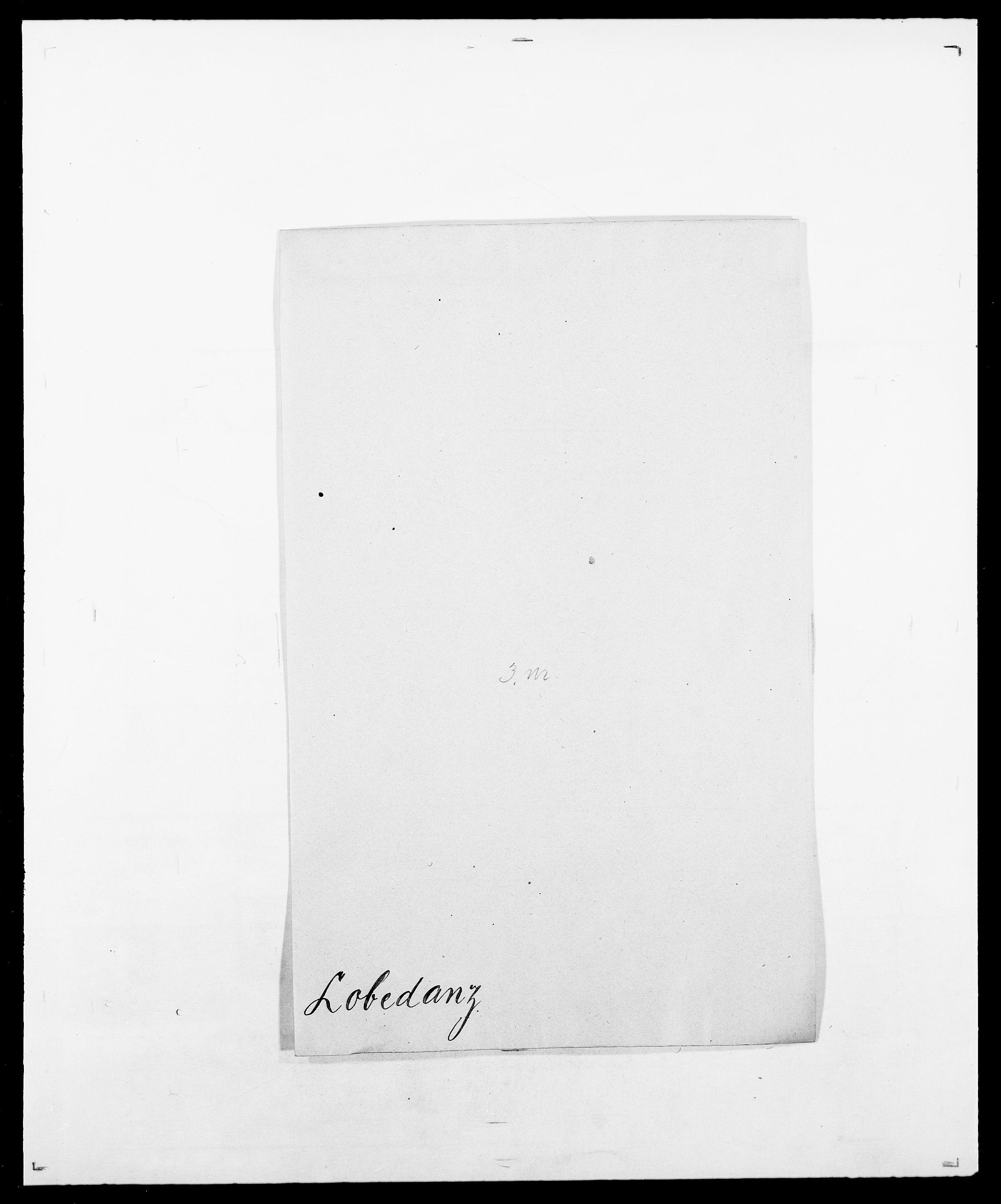 SAO, Delgobe, Charles Antoine - samling, D/Da/L0024: Lobech - Lærum, s. 3