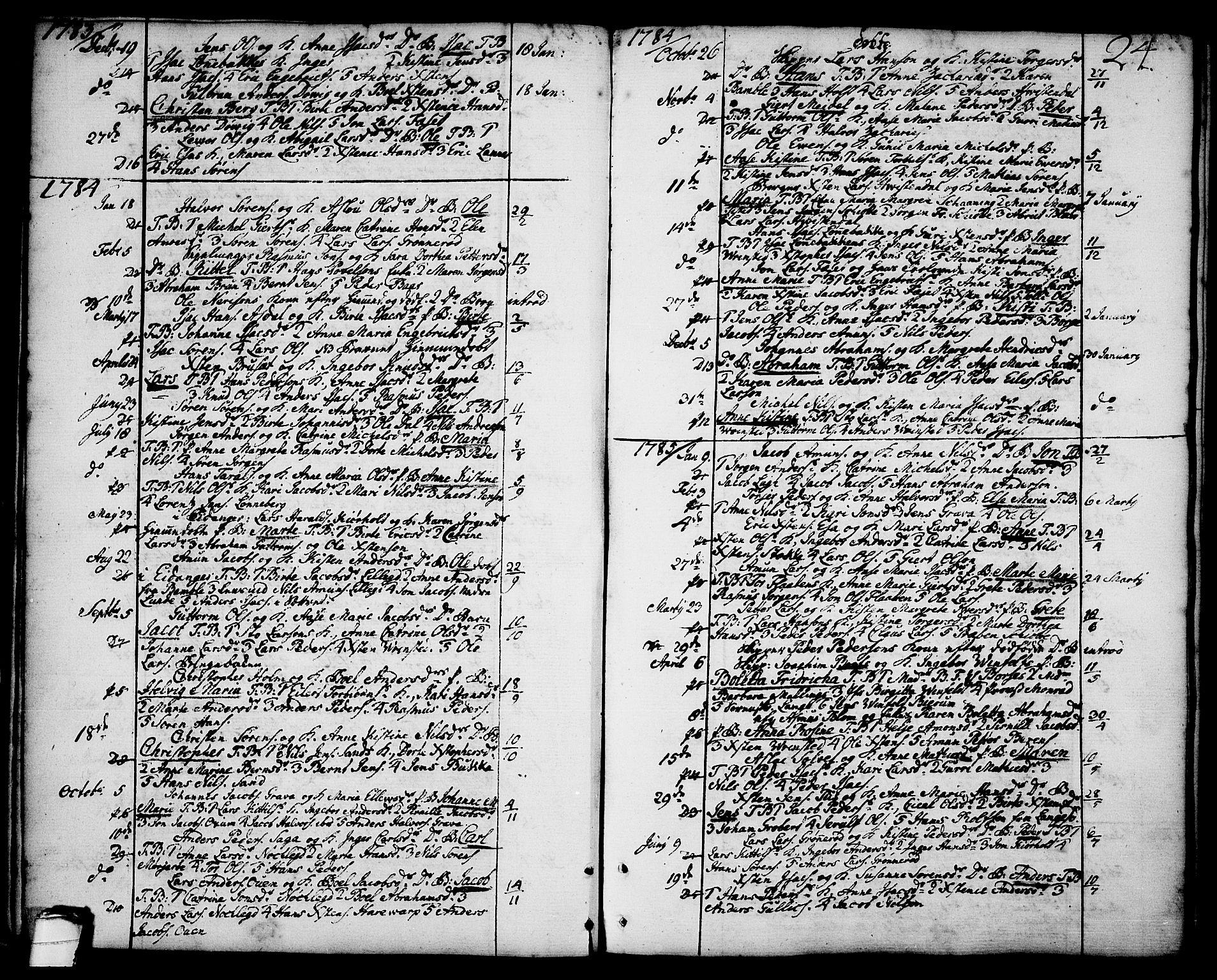 SAKO, Brevik kirkebøker, F/Fa/L0003: Ministerialbok nr. 3, 1764-1814, s. 24