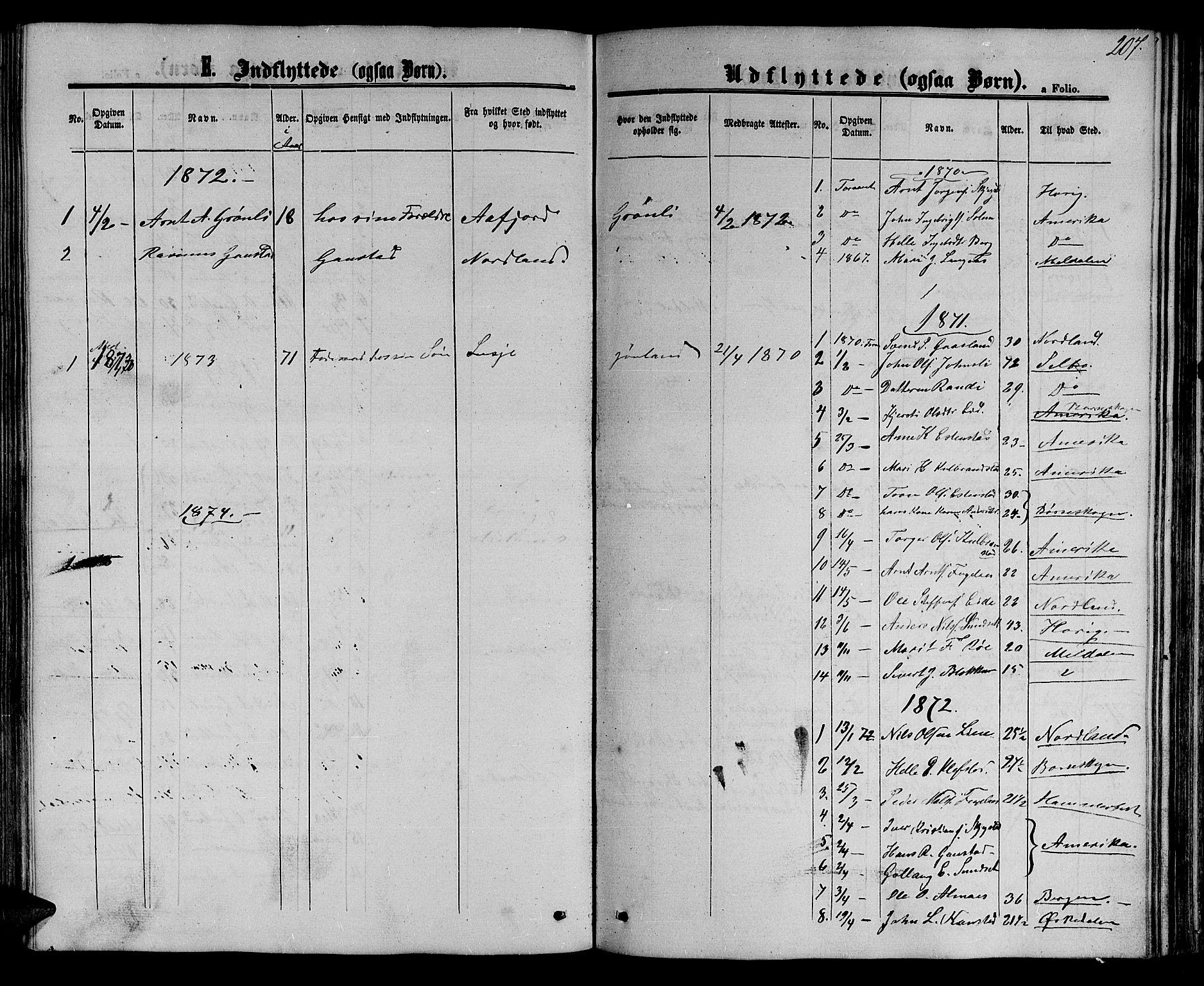 SAT, Ministerialprotokoller, klokkerbøker og fødselsregistre - Sør-Trøndelag, 694/L1131: Klokkerbok nr. 694C03, 1858-1886, s. 207