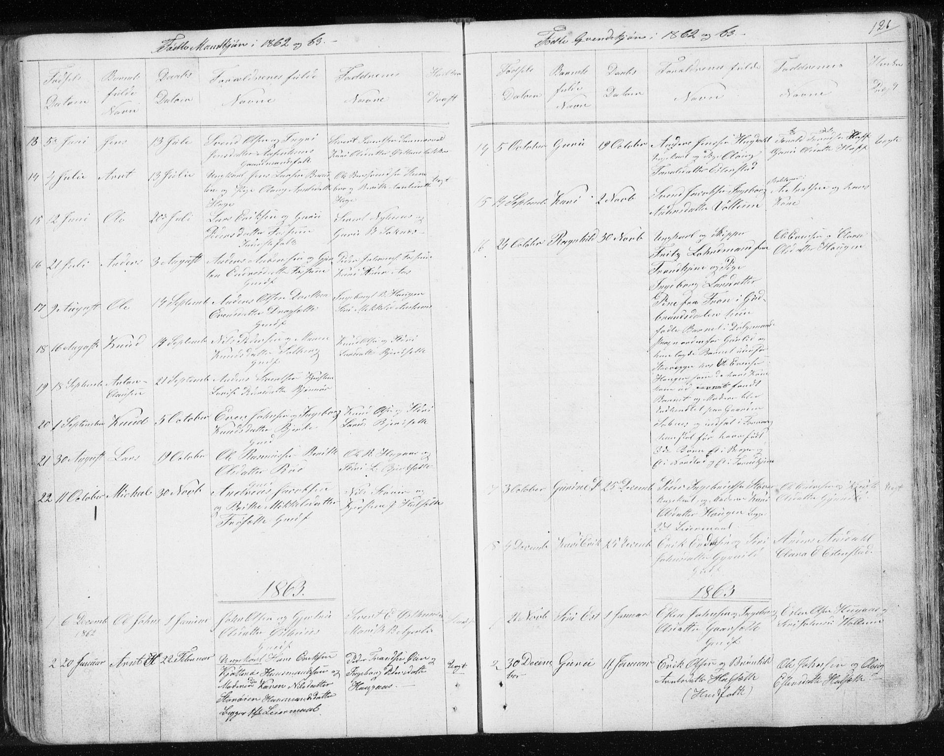 SAT, Ministerialprotokoller, klokkerbøker og fødselsregistre - Sør-Trøndelag, 689/L1043: Klokkerbok nr. 689C02, 1816-1892, s. 126