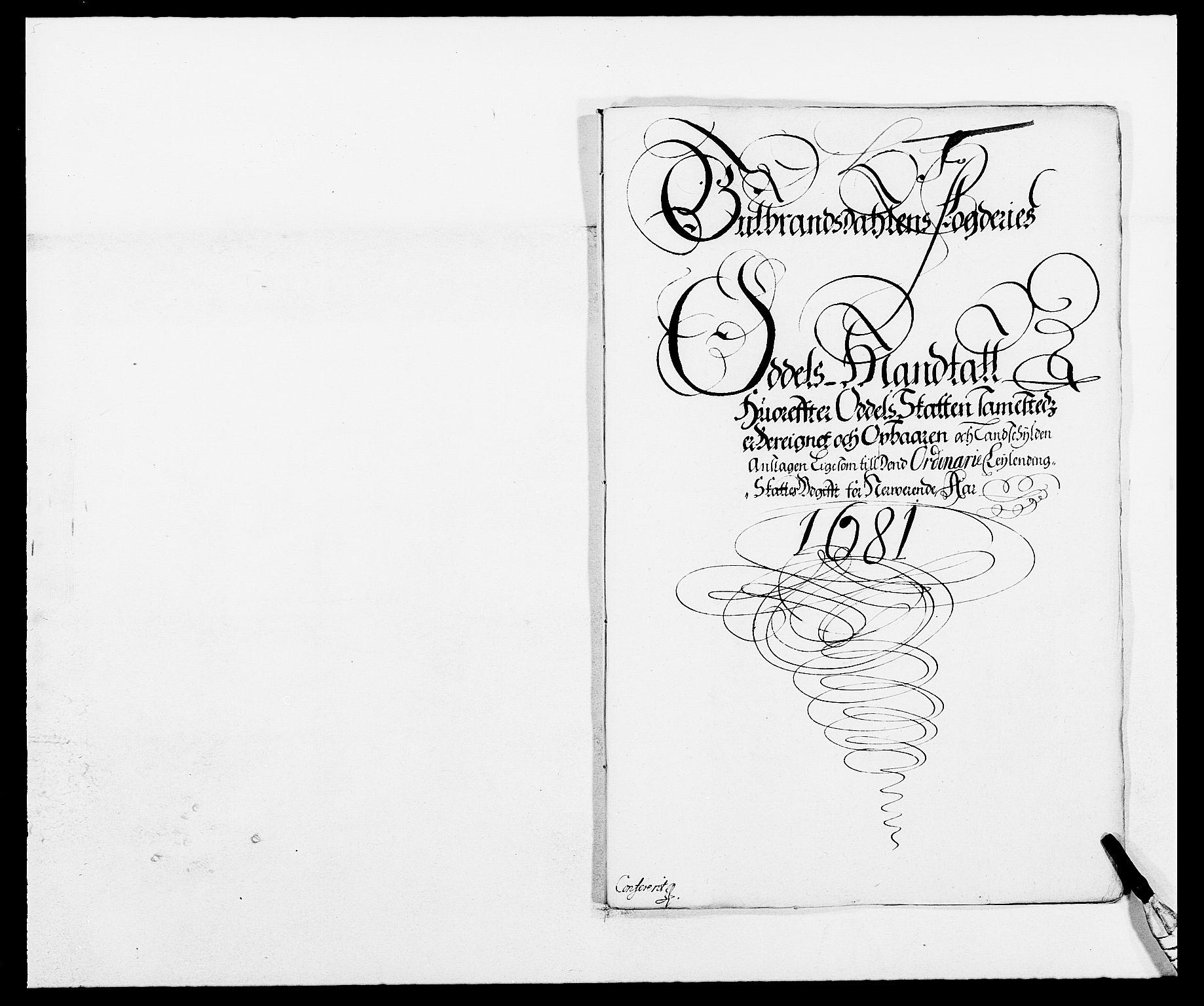 RA, Rentekammeret inntil 1814, Reviderte regnskaper, Fogderegnskap, R17/L1156: Fogderegnskap Gudbrandsdal, 1681, s. 73