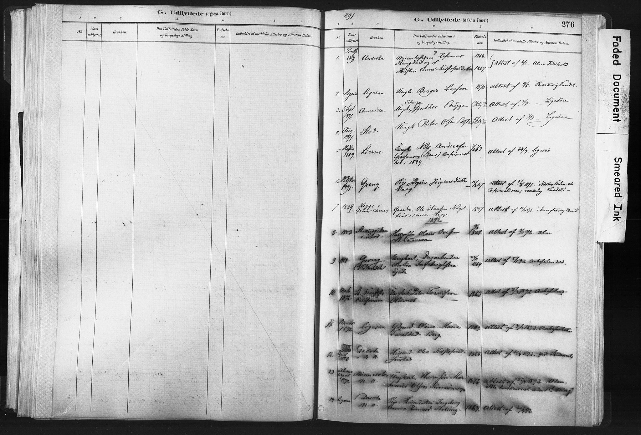 SAT, Ministerialprotokoller, klokkerbøker og fødselsregistre - Nord-Trøndelag, 749/L0474: Ministerialbok nr. 749A08, 1887-1903, s. 276