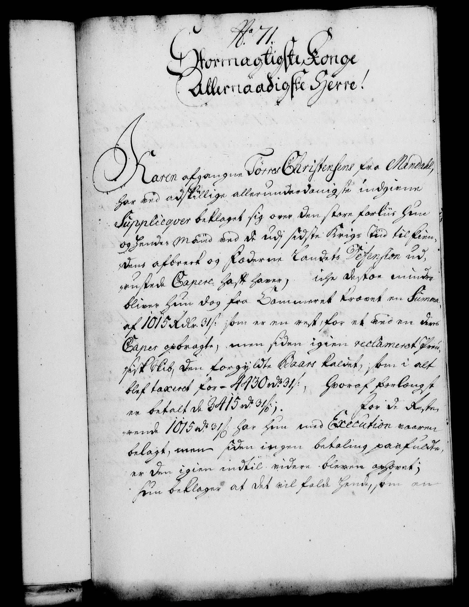 RA, Rentekammeret, Kammerkanselliet, G/Gf/Gfa/L0014: Norsk relasjons- og resolusjonsprotokoll (merket RK 52.14), 1731, s. 374