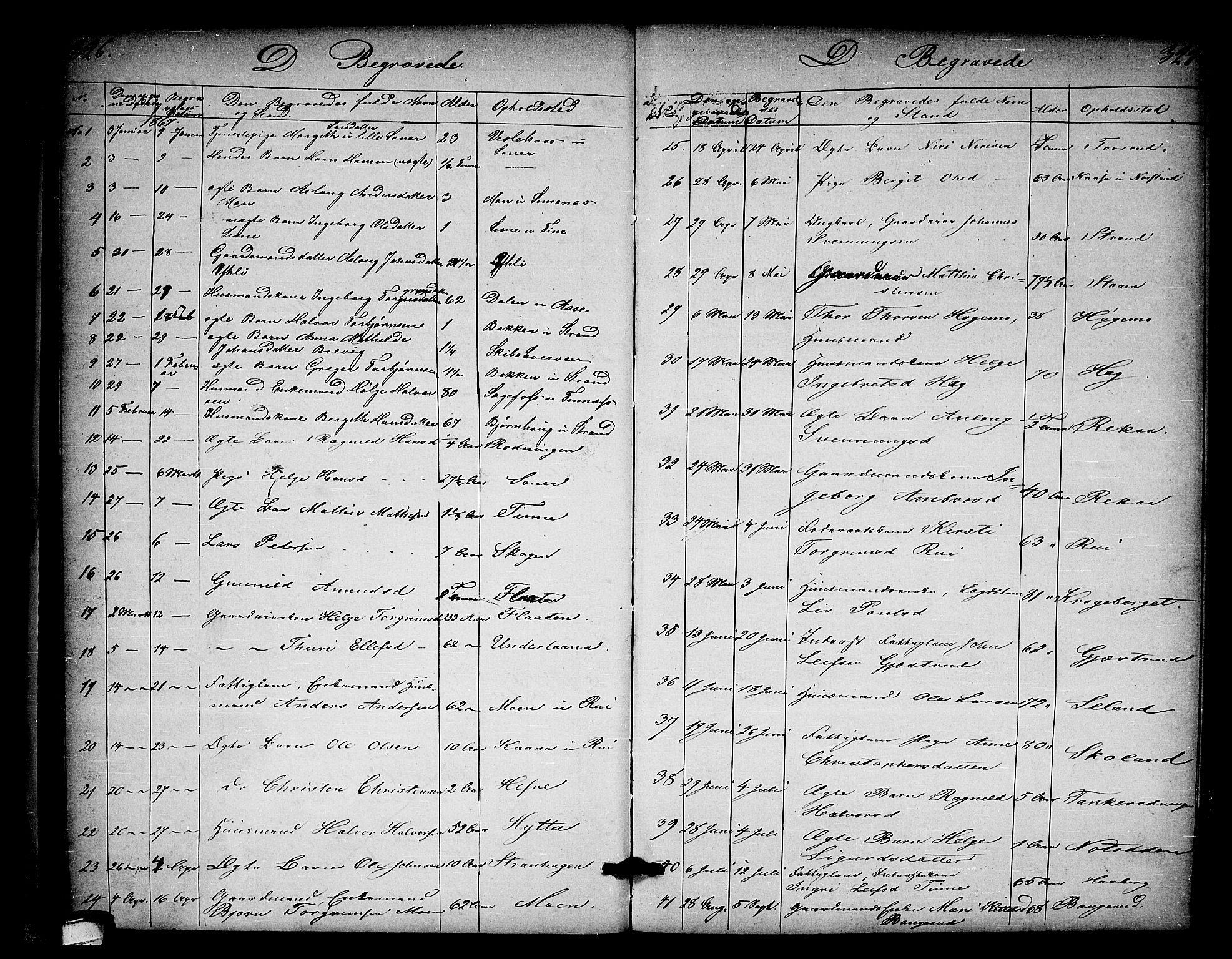 SAKO, Heddal kirkebøker, G/Ga/L0001: Klokkerbok nr. I 1, 1866-1878, s. 326-327