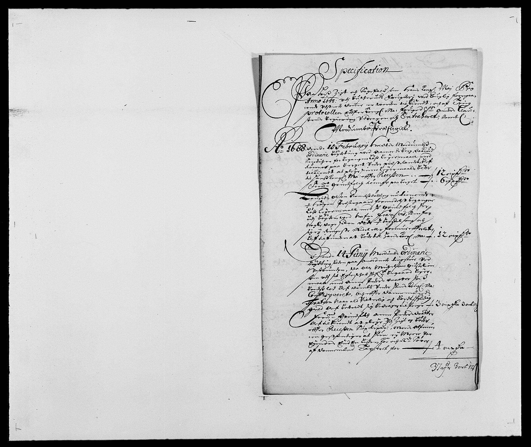 RA, Rentekammeret inntil 1814, Reviderte regnskaper, Fogderegnskap, R25/L1679: Fogderegnskap Buskerud, 1687-1688, s. 286