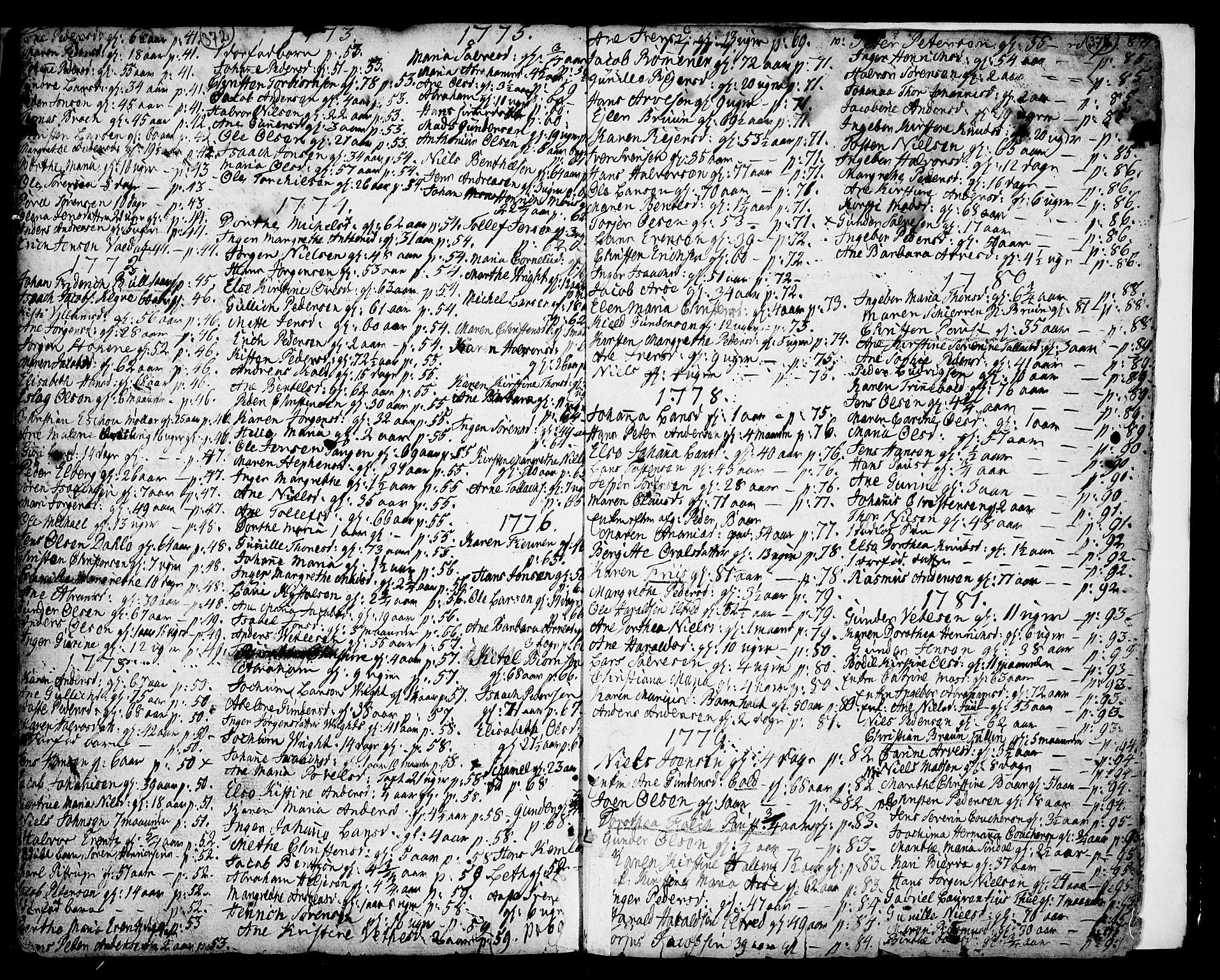 SAKO, Porsgrunn kirkebøker , F/Fa/L0001: Ministerialbok nr. 1, 1764-1814, s. 372-373