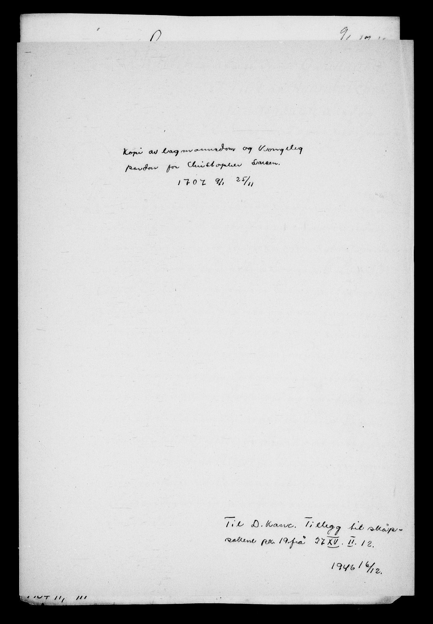 RA, Danske Kanselli, Skapsaker, G/L0019: Tillegg til skapsakene, 1616-1753, s. 341