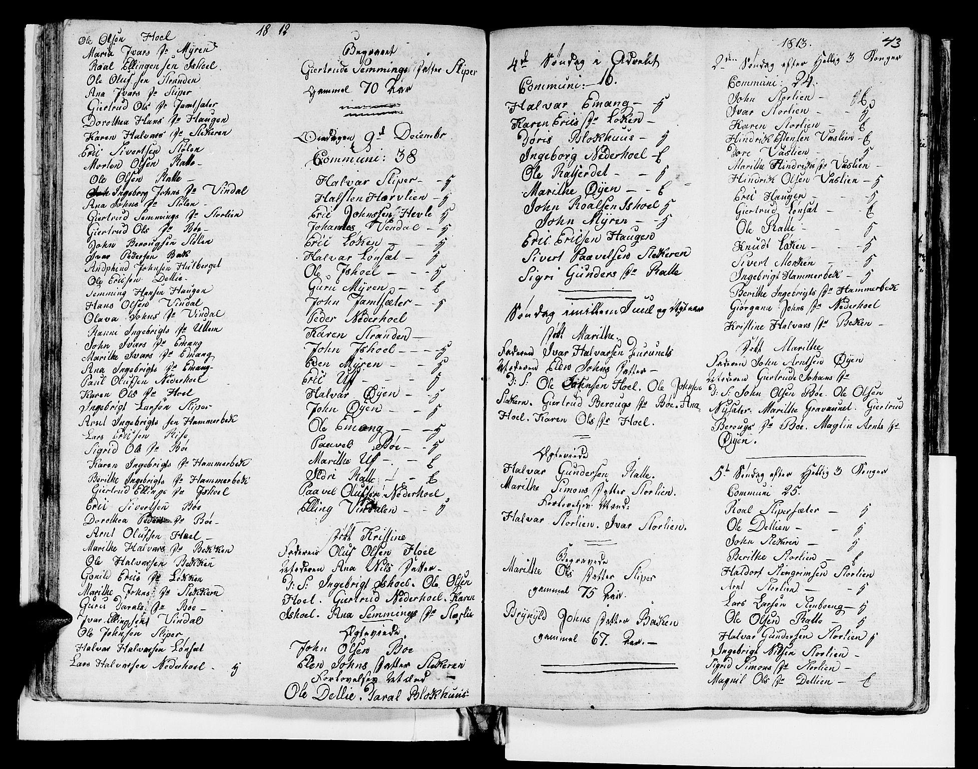 SAT, Ministerialprotokoller, klokkerbøker og fødselsregistre - Sør-Trøndelag, 679/L0921: Klokkerbok nr. 679C01, 1792-1840, s. 43