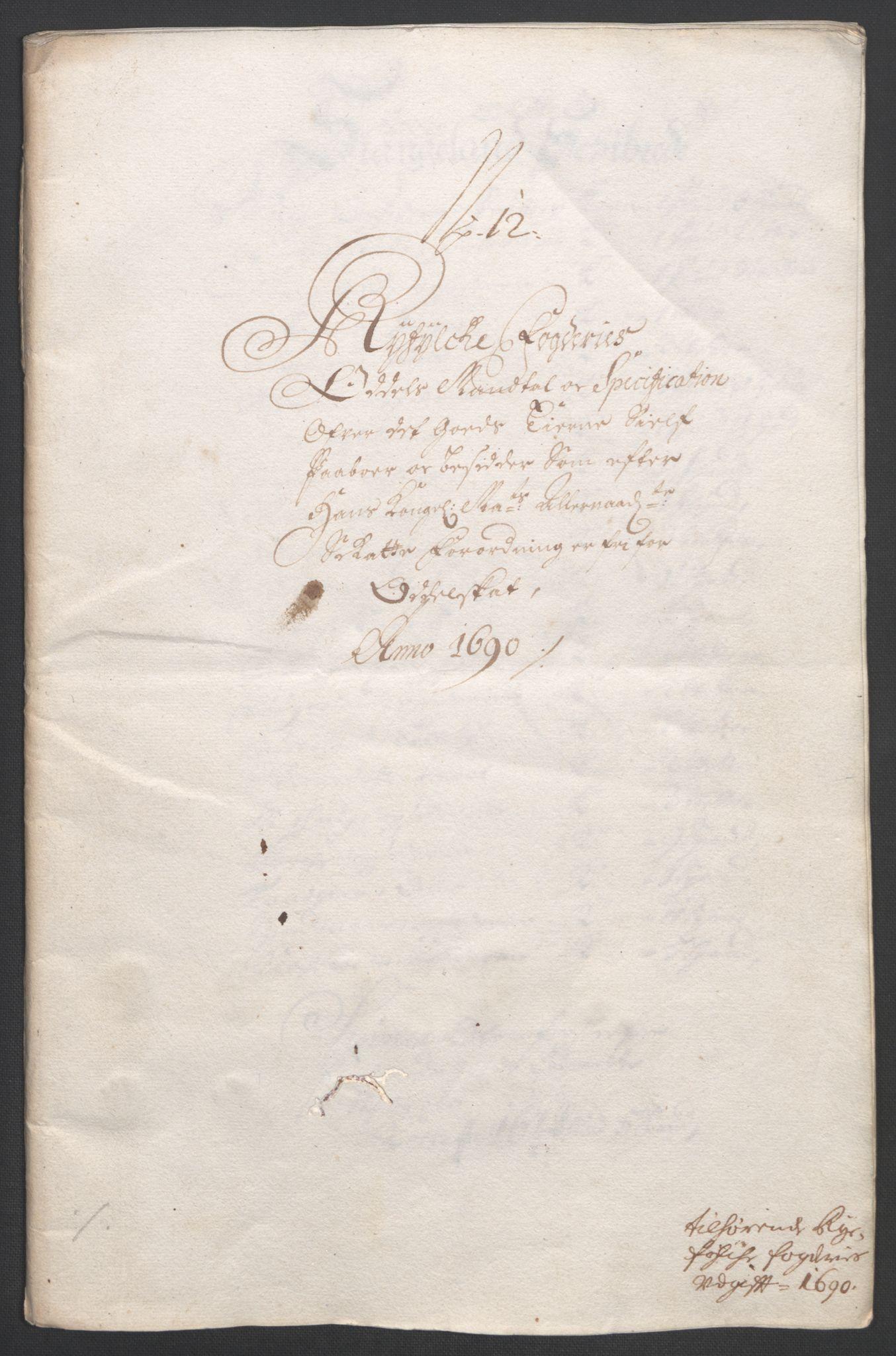 RA, Rentekammeret inntil 1814, Reviderte regnskaper, Fogderegnskap, R47/L2856: Fogderegnskap Ryfylke, 1689-1693, s. 244